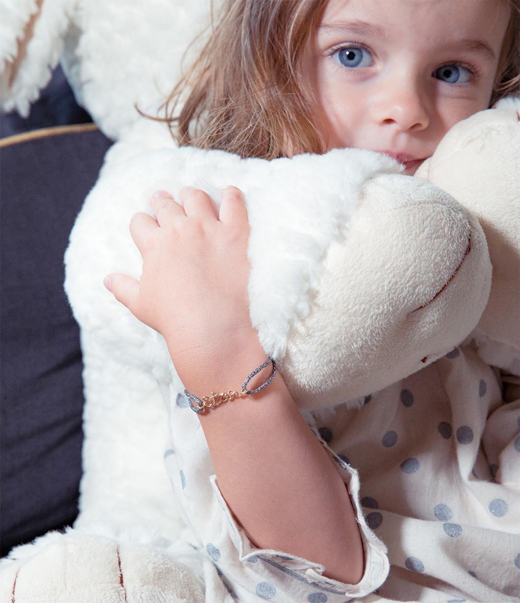 ATELIER PAULIN - Bracelet Cordon Lurex Enfant Happy Gold Filled