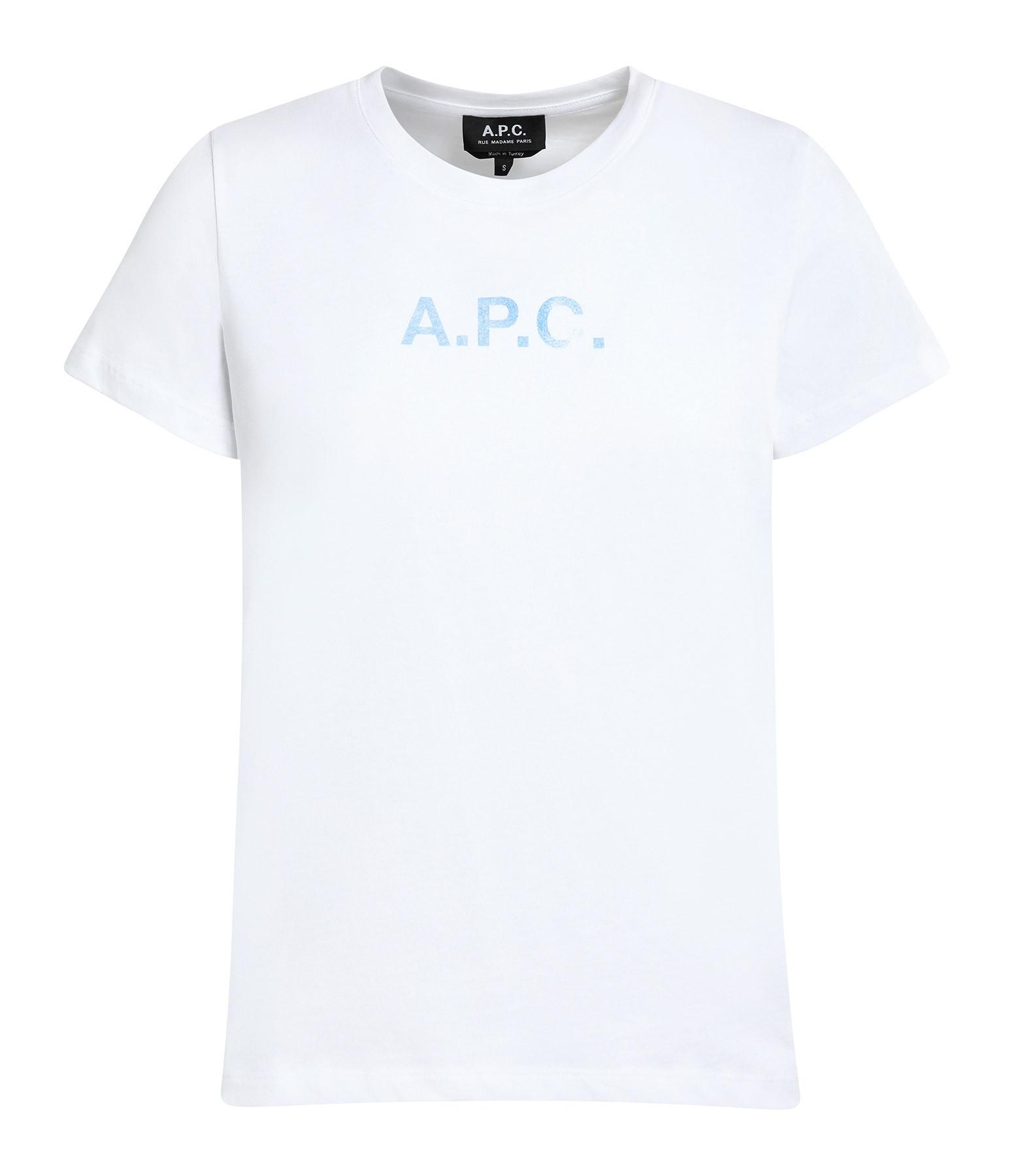 A.P.C. - Tee-shirt Stamp Jersey Blanc