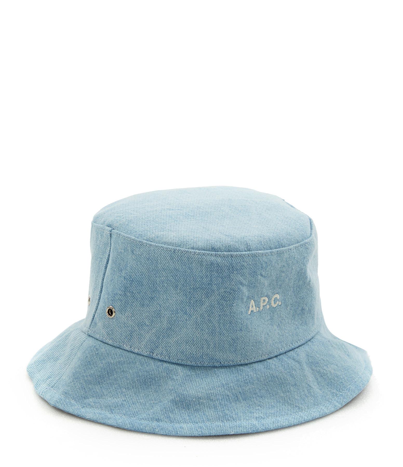 A.P.C. - Chapeau Bob Alex Denim Bleu