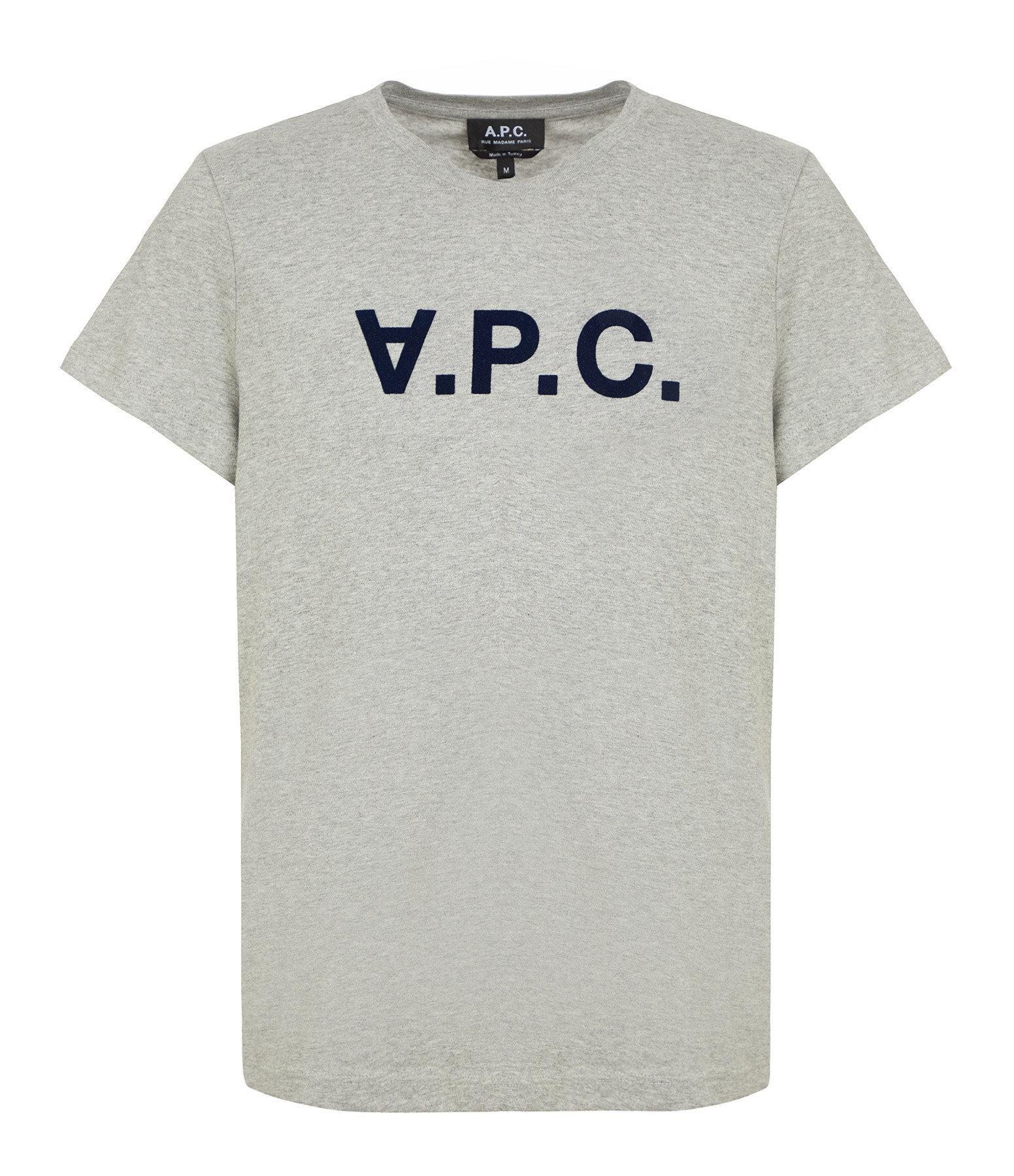 A.P.C. - Tee-shirt Gris Clair Chiné Noir