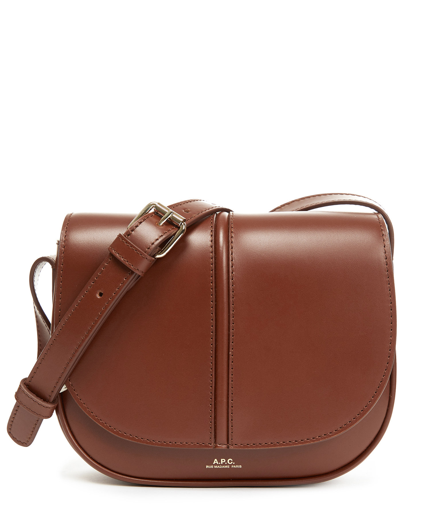A.P.C. - Sac Betty Cuir Lisse Noisette