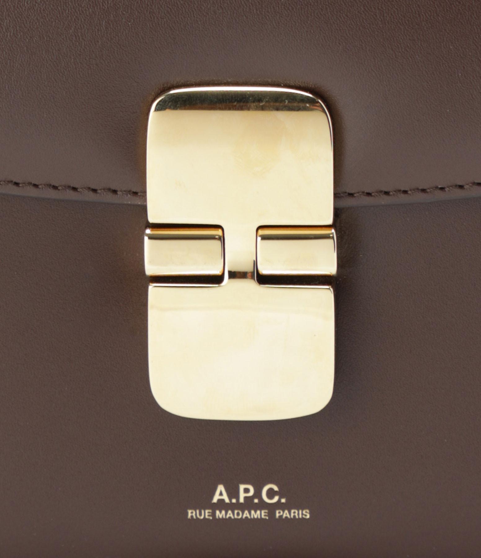 A.P.C. - Sac Grace Mini Cuir Lisse Châtaigne