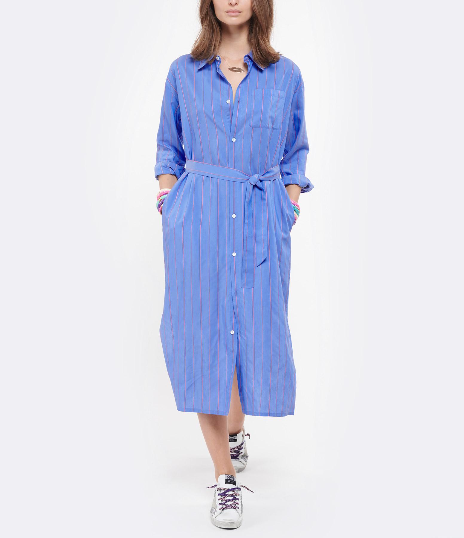 A.P.C. - Robe Hanna Rayures Bleu