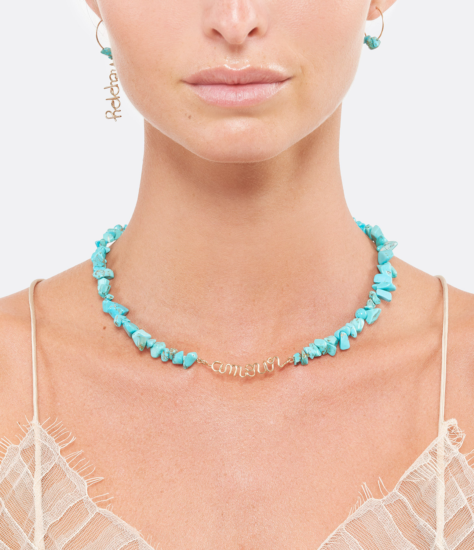 ATELIER PAULIN - Collier Amour Gold Filled Turquoise