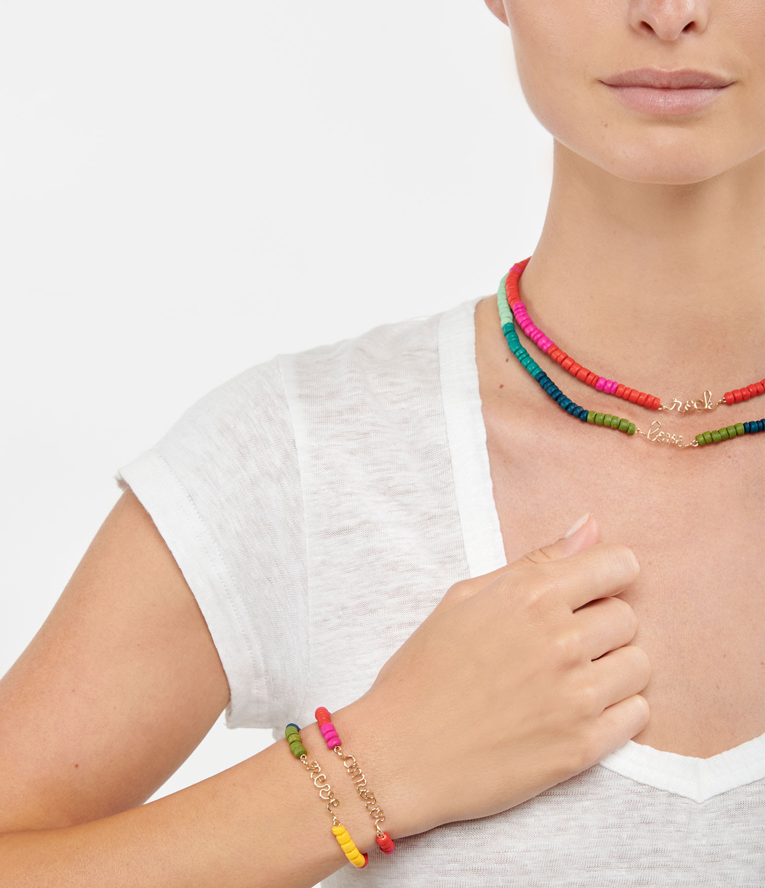 ATELIER PAULIN - Bracelet Medina Rêve Multicolore Gold Filled, Collection Marrakech