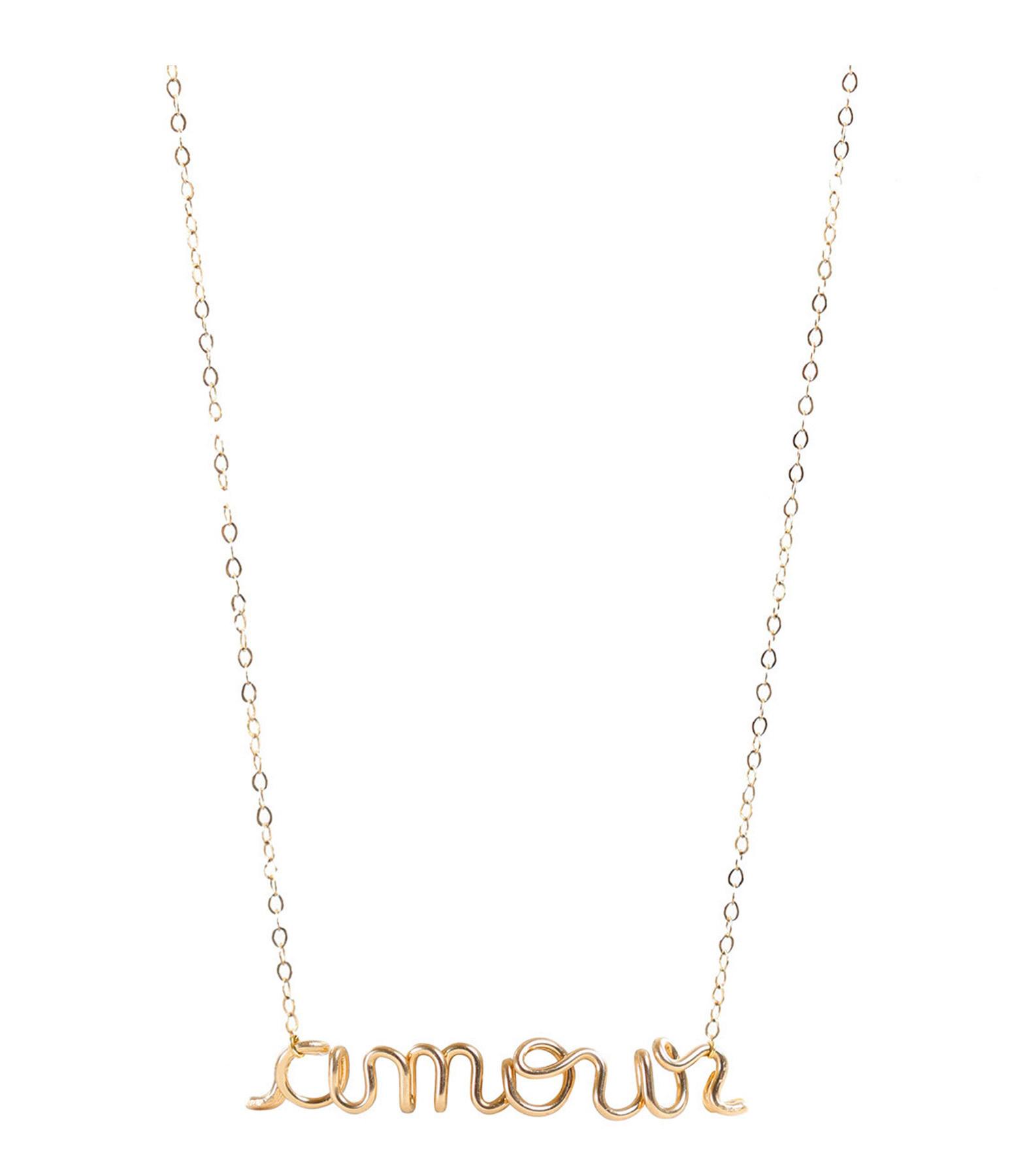ATELIER PAULIN - Collier Richelieu Amour Gold Filled