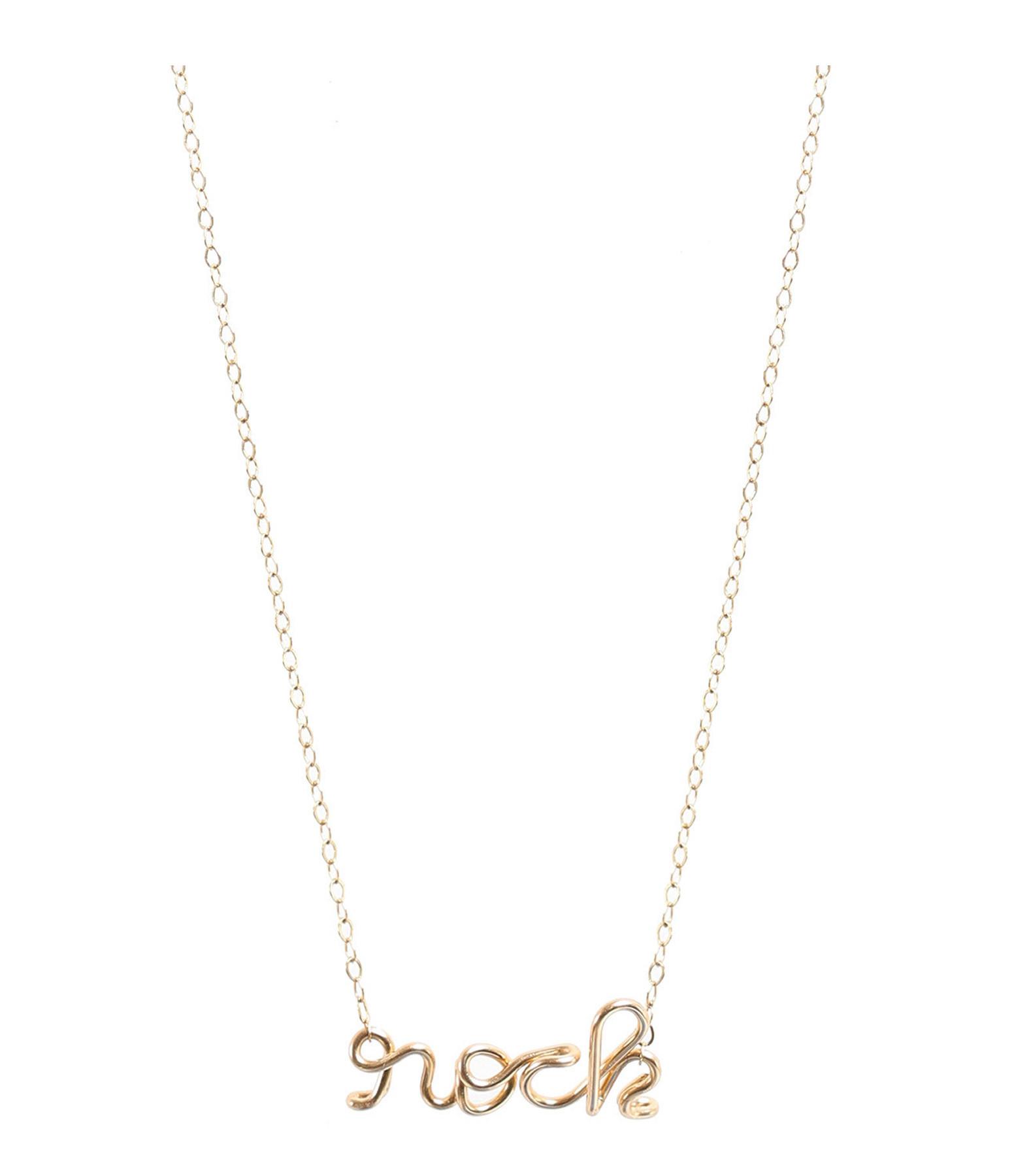 ATELIER PAULIN - Collier Richelieu Rock Gold Filled