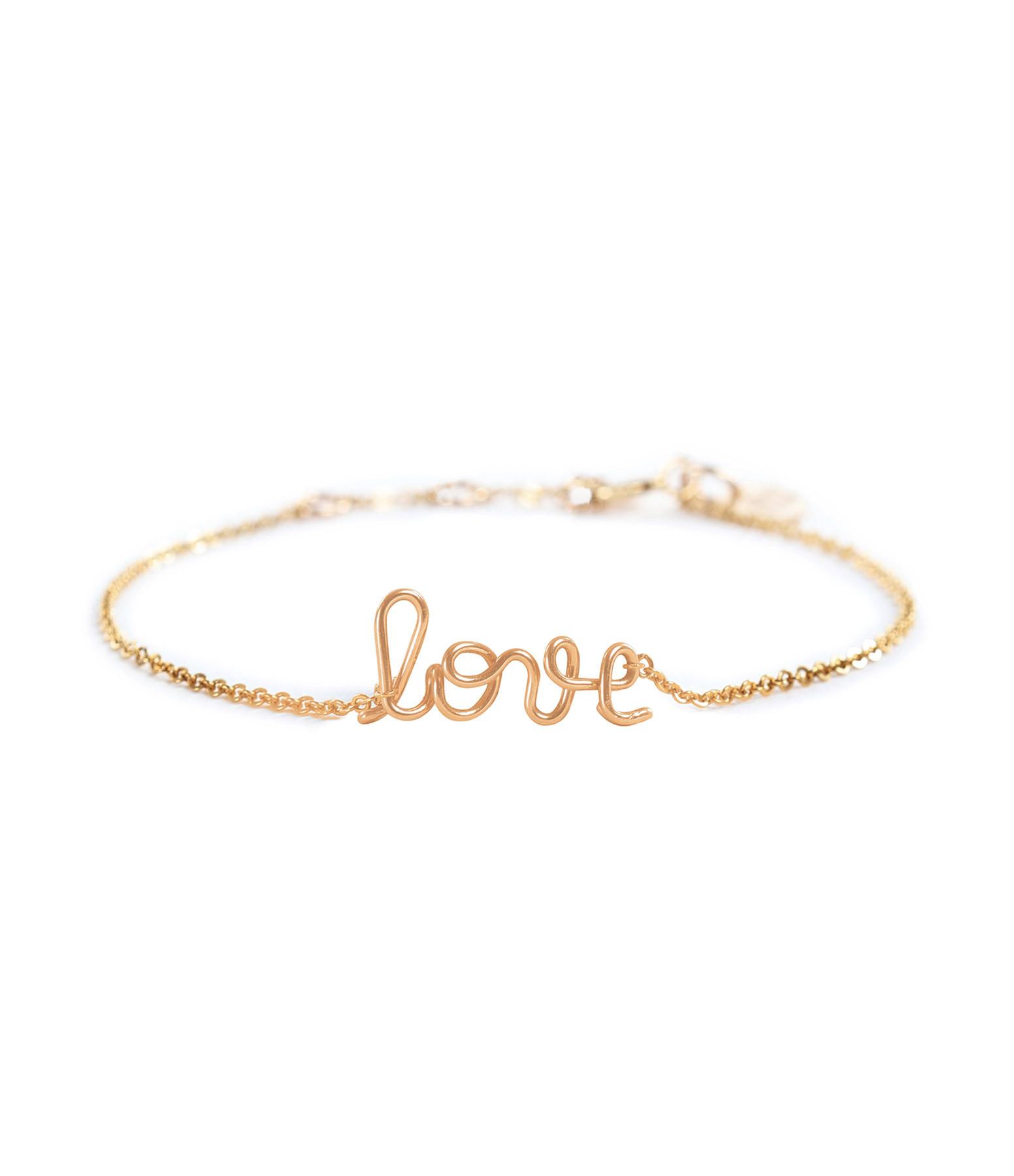 ATELIER PAULIN - Bracelet Chaîne Richelieu Love Gold Filled