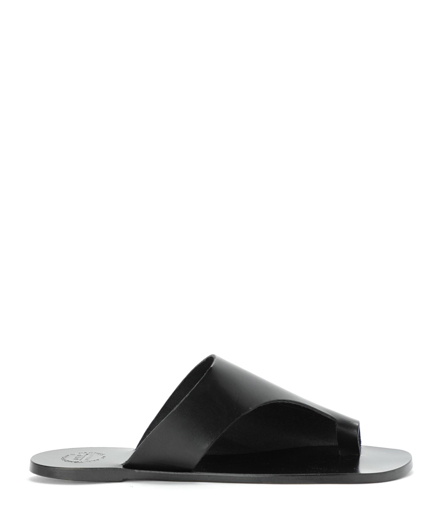 ATP ATELIER - Mules Rosa Vachette Noir