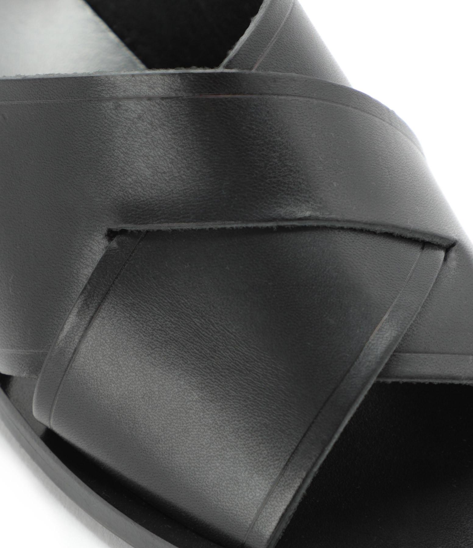 ATP ATELIER - Mules Stornarella Vachette Noir