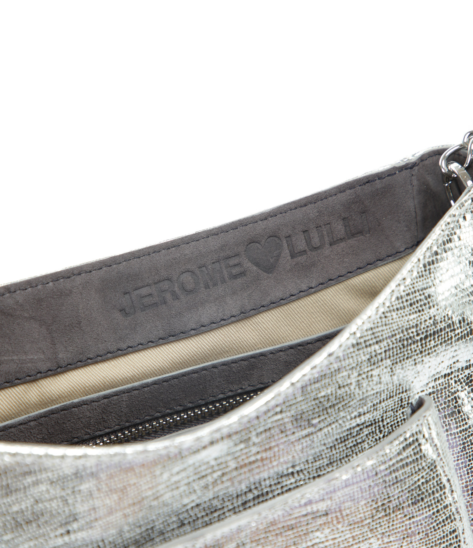 JEROME DREYFUSS - Sac Lulu M Chèvre Silver, Exclusivité Lulli