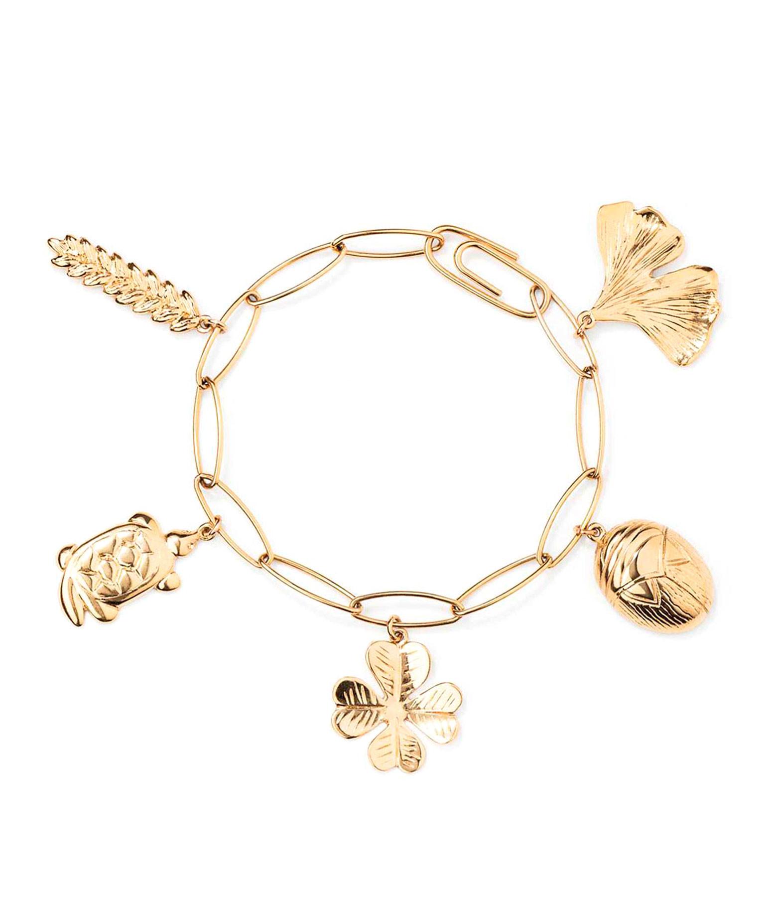 AURELIE BIDERMANN - Bracelet Aurélie Charms Plaqué Or