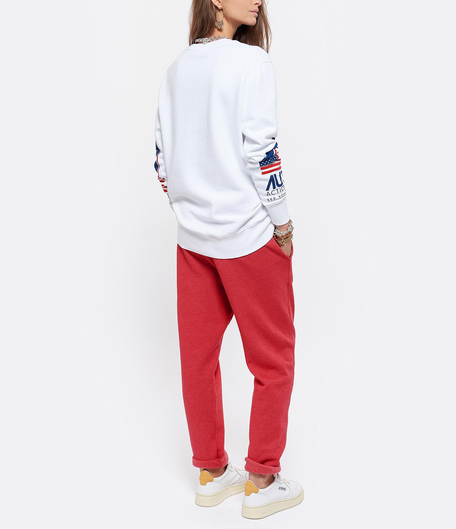 AUTRY - Sweatshirt Double Flag Coton Blanc, Capsule