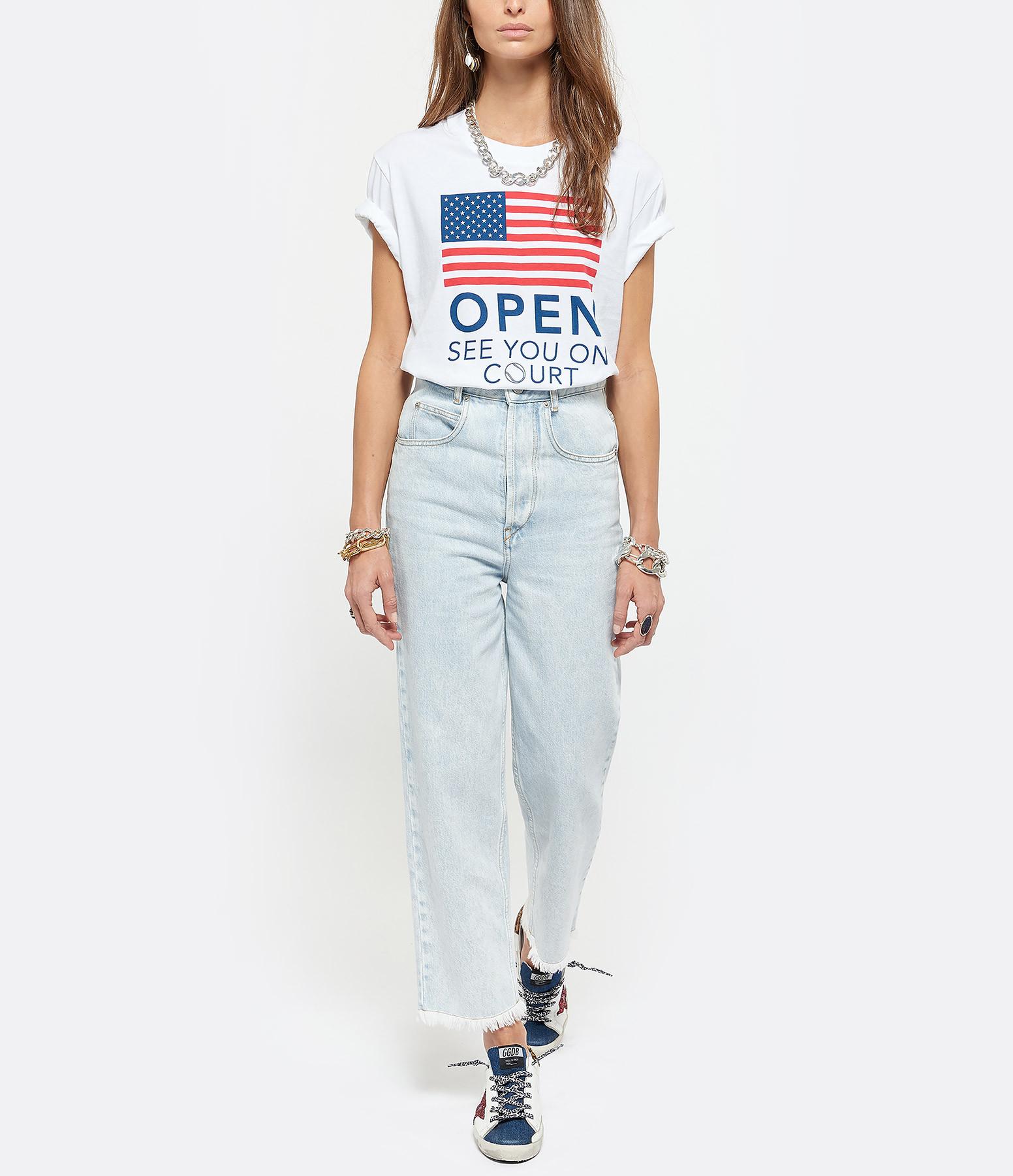 AUTRY - Tee-shirt Flag Coton Blanc, Capsule