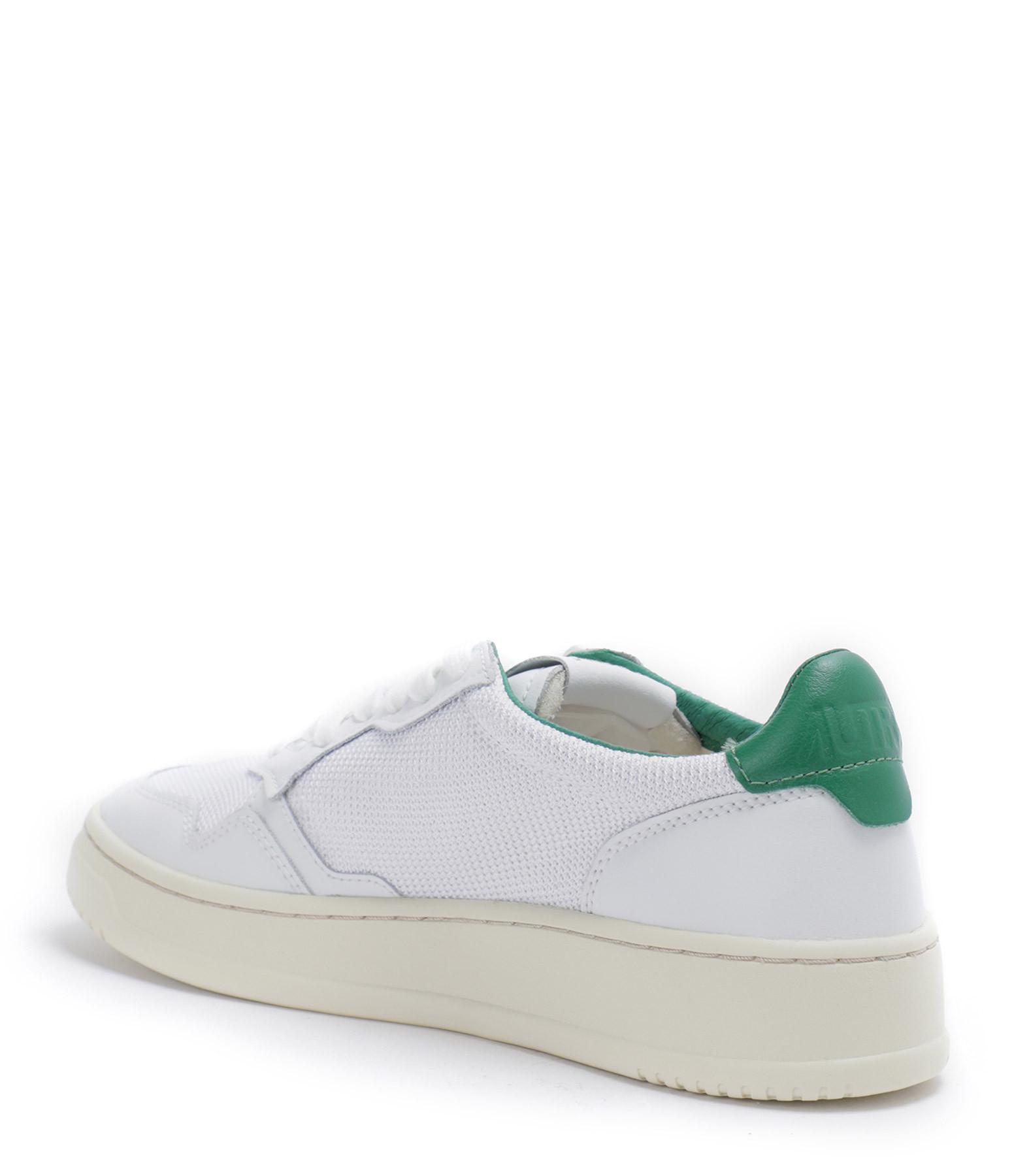AUTRY - Baskets 01 Low Cuir Blanc Vert