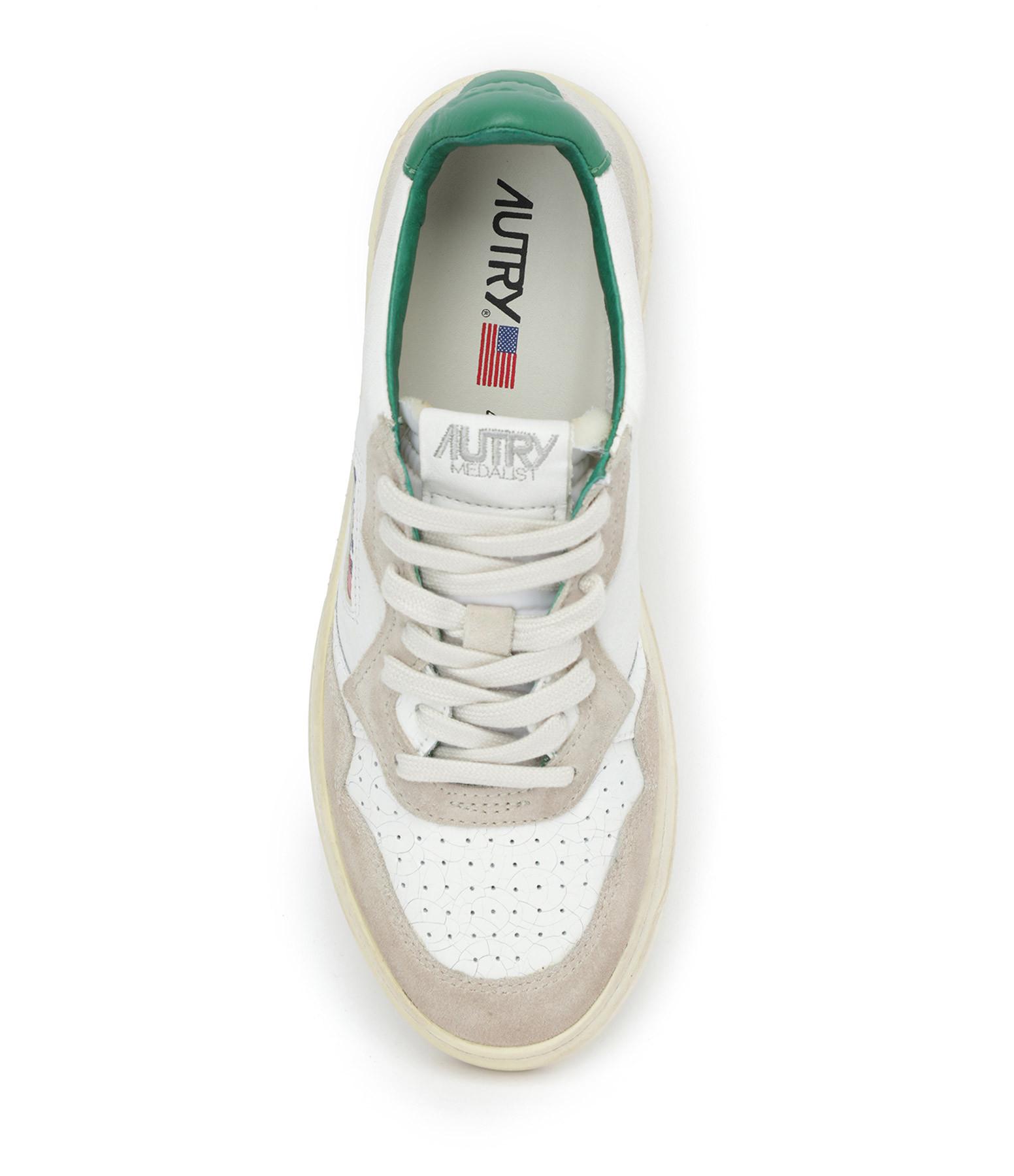 AUTRY - Baskets 01 Low Crack Blanc Vert