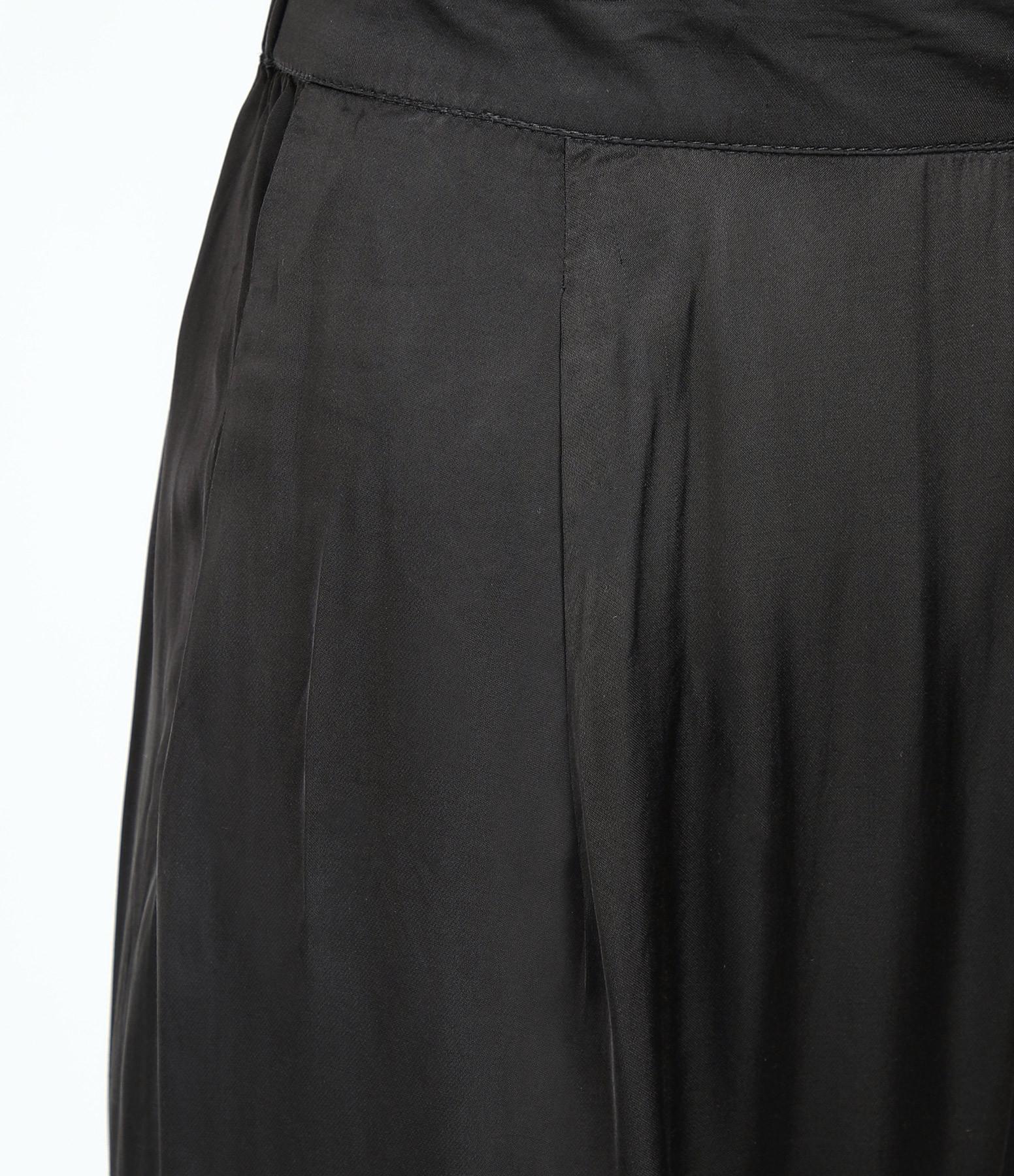 RABENS SALONER - Pantalon Karolina Crop Noir Délavé