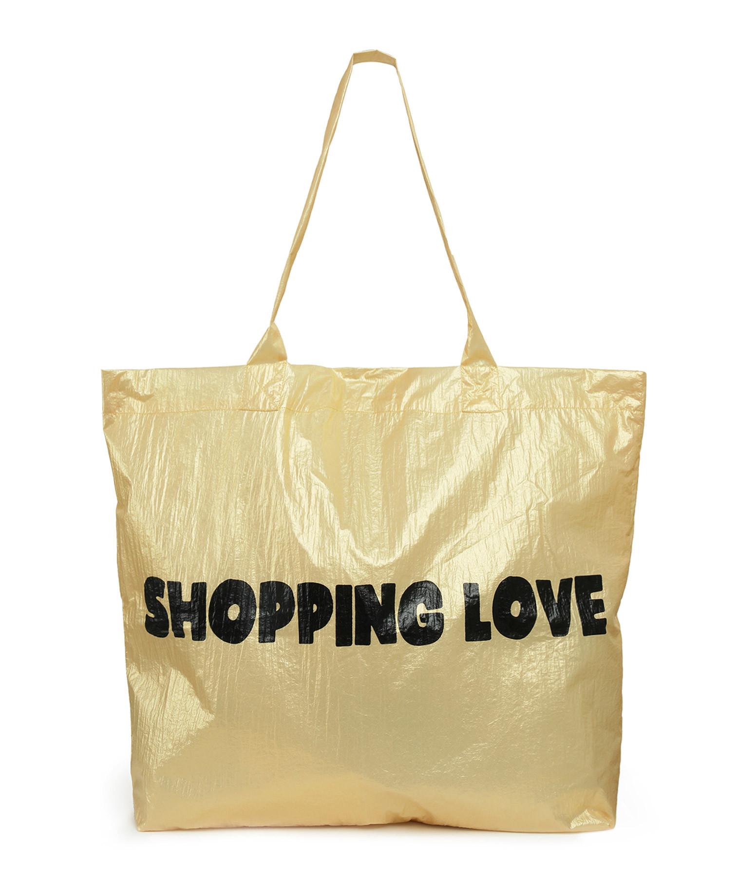 JEANNE VOULAND - Cabas Shopping Love Doré Noir