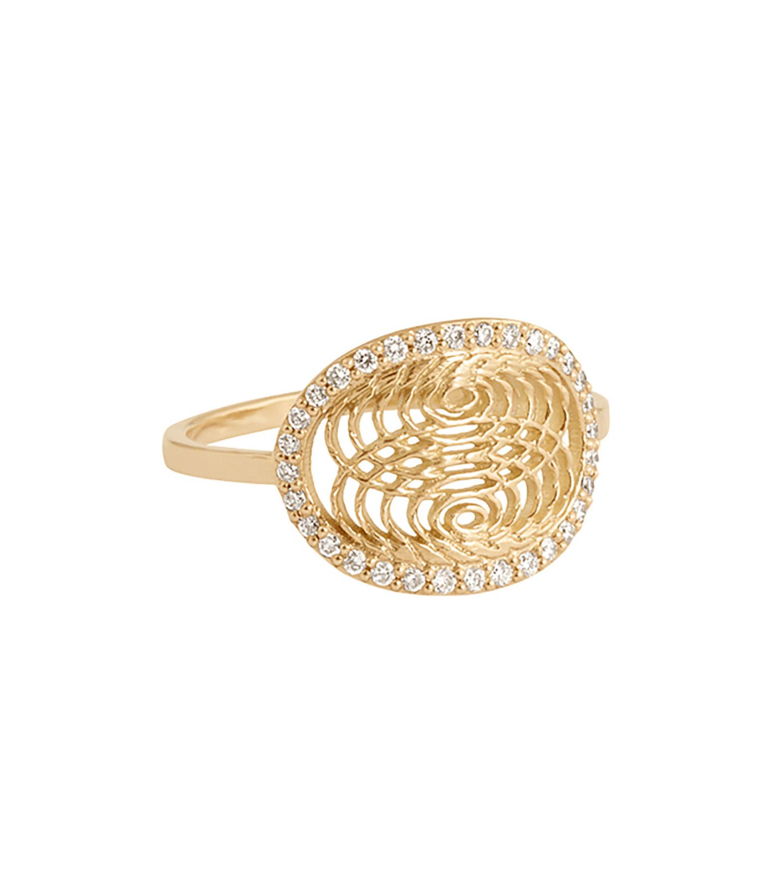 Bague Médaille Diamants Aura - Charlet