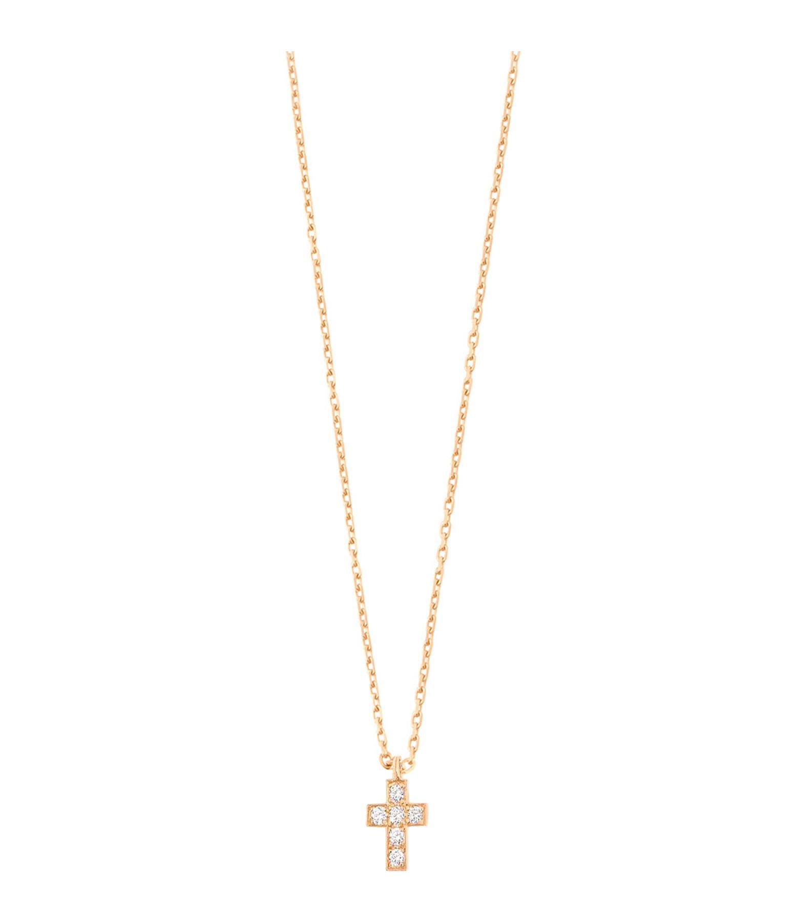 GIGI CLOZEAU - Collier Croix Résine Or Diamants