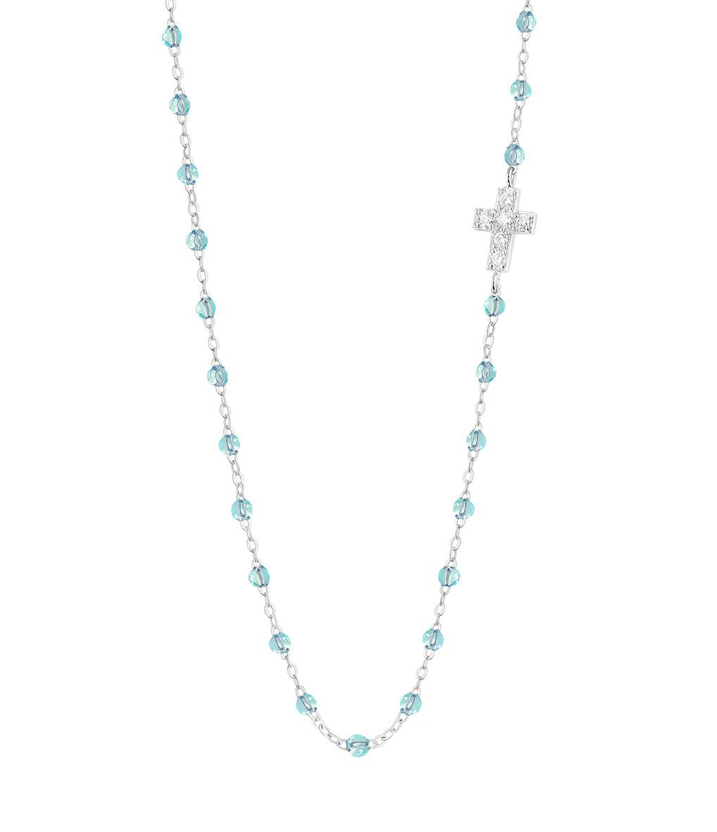 GIGI CLOZEAU - Collier Intra Croix Perles Résine Or Diamants