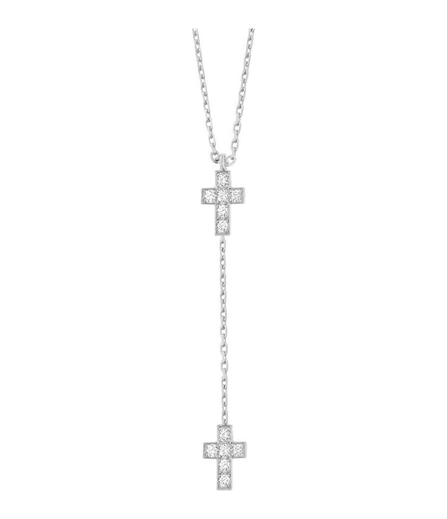 Collier Double Croix