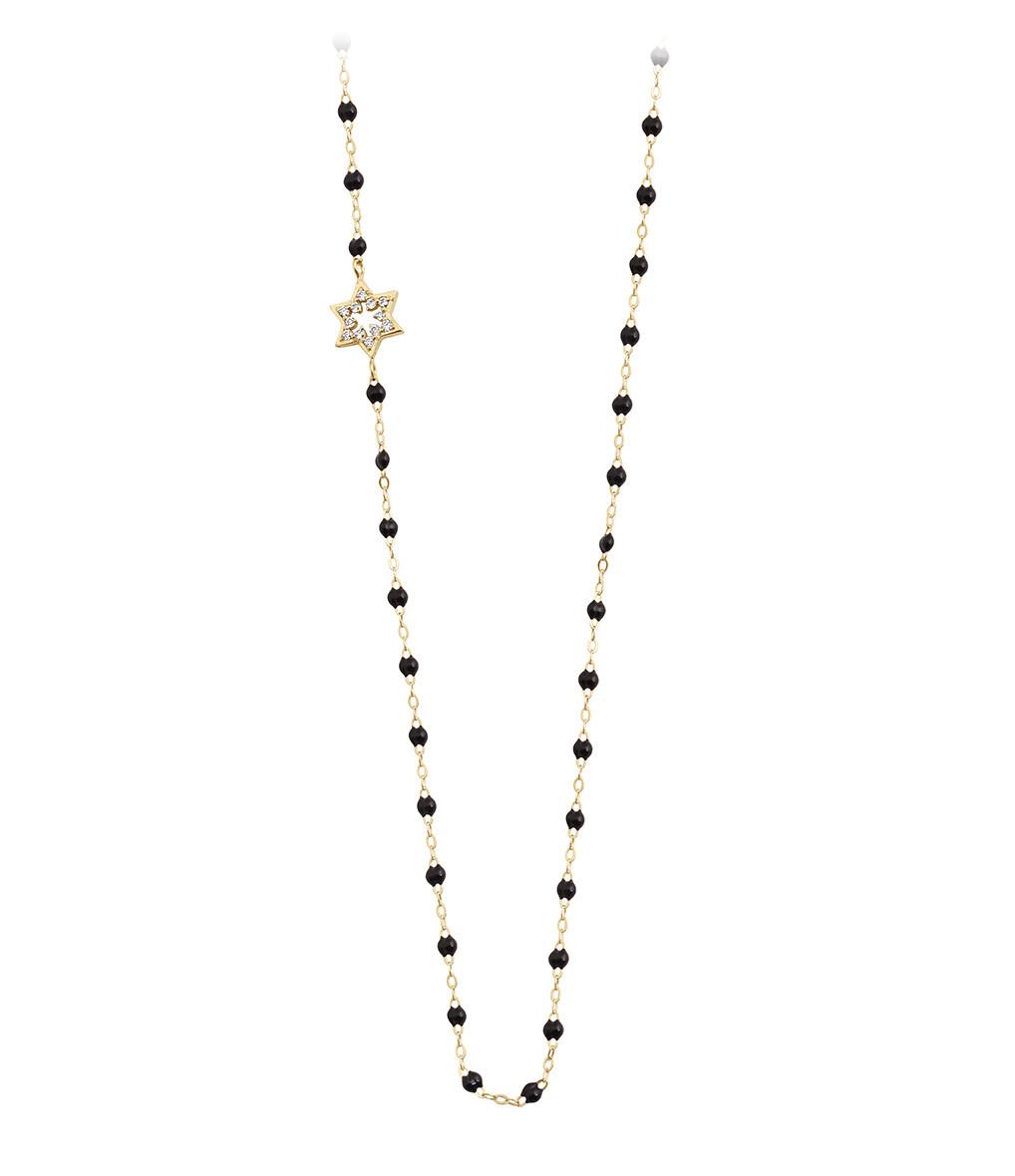 Collier Perles Résine Etoile David Diamants - GIGI CLOZEAU