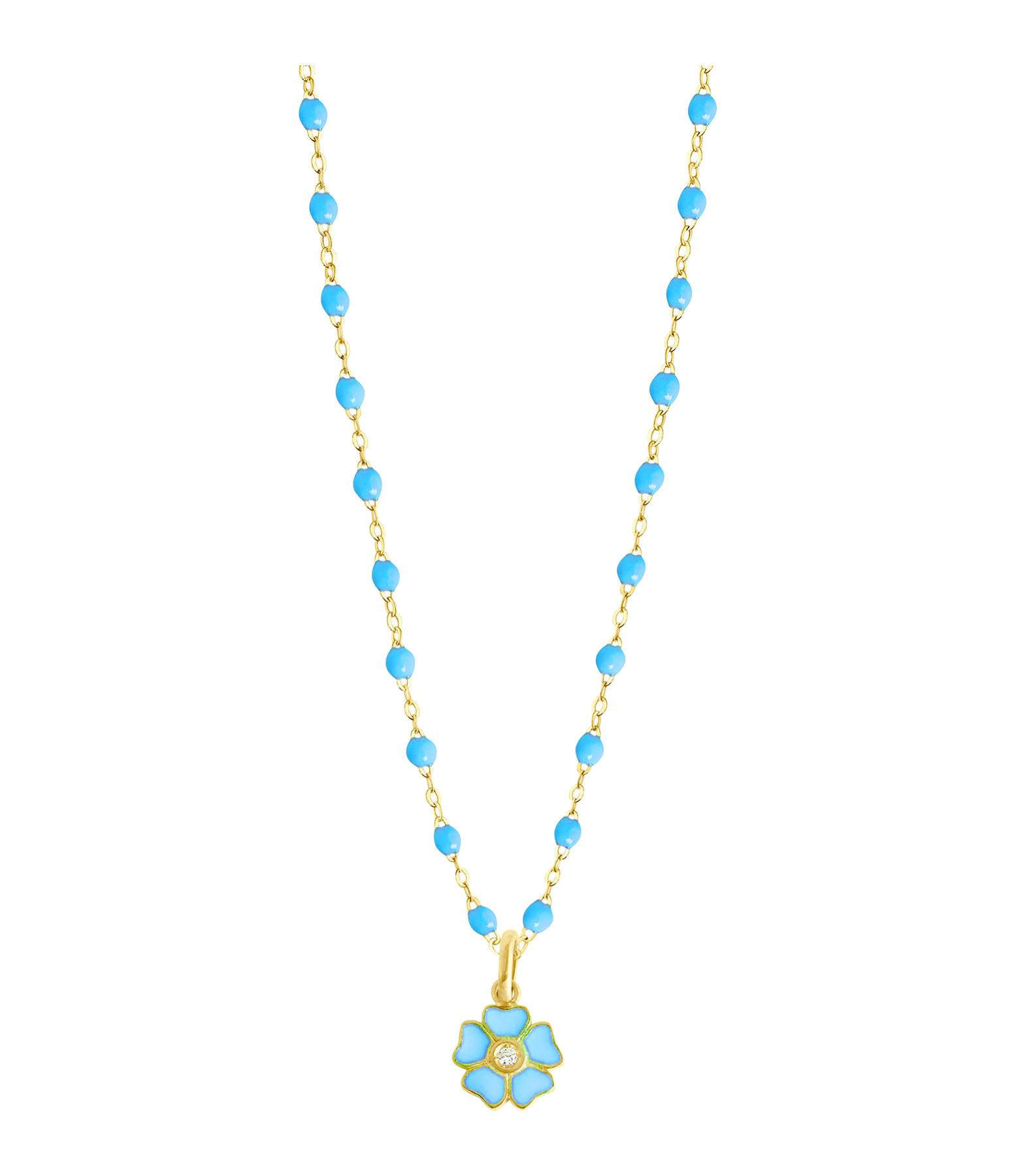 GIGI CLOZEAU - Collier Perles Résine Fleur Diamant Or gris