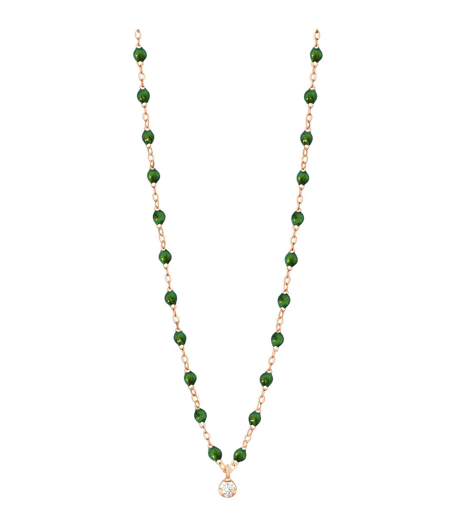 GIGI CLOZEAU - Collier résine Gigi Suprême 1 Diamant Or rose