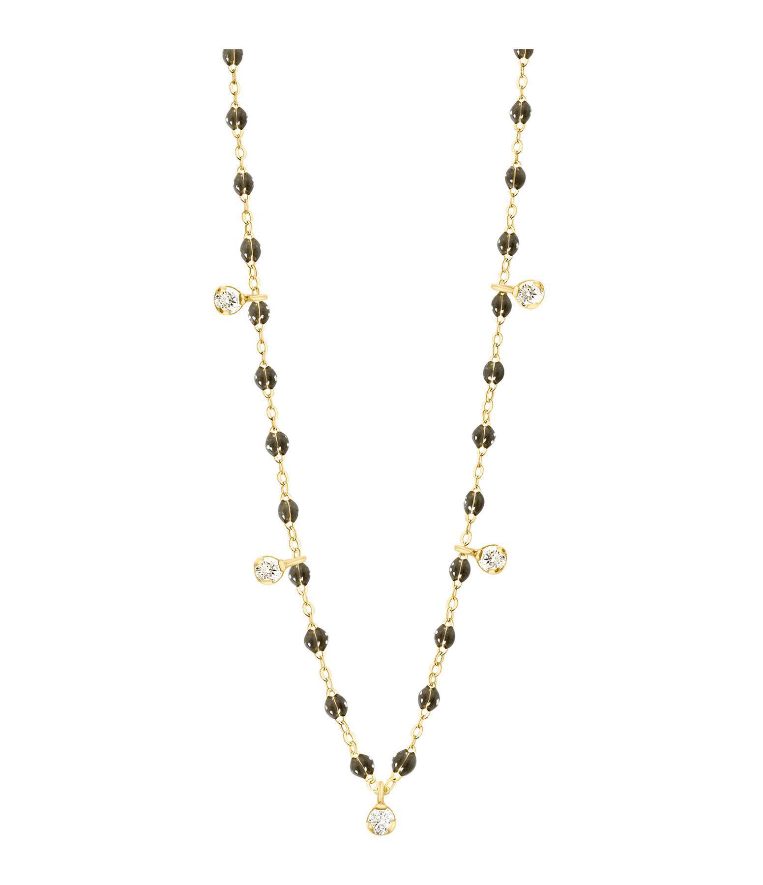 GIGI CLOZEAU - Collier résine Gigi Suprême 5 Diamants Or jaune