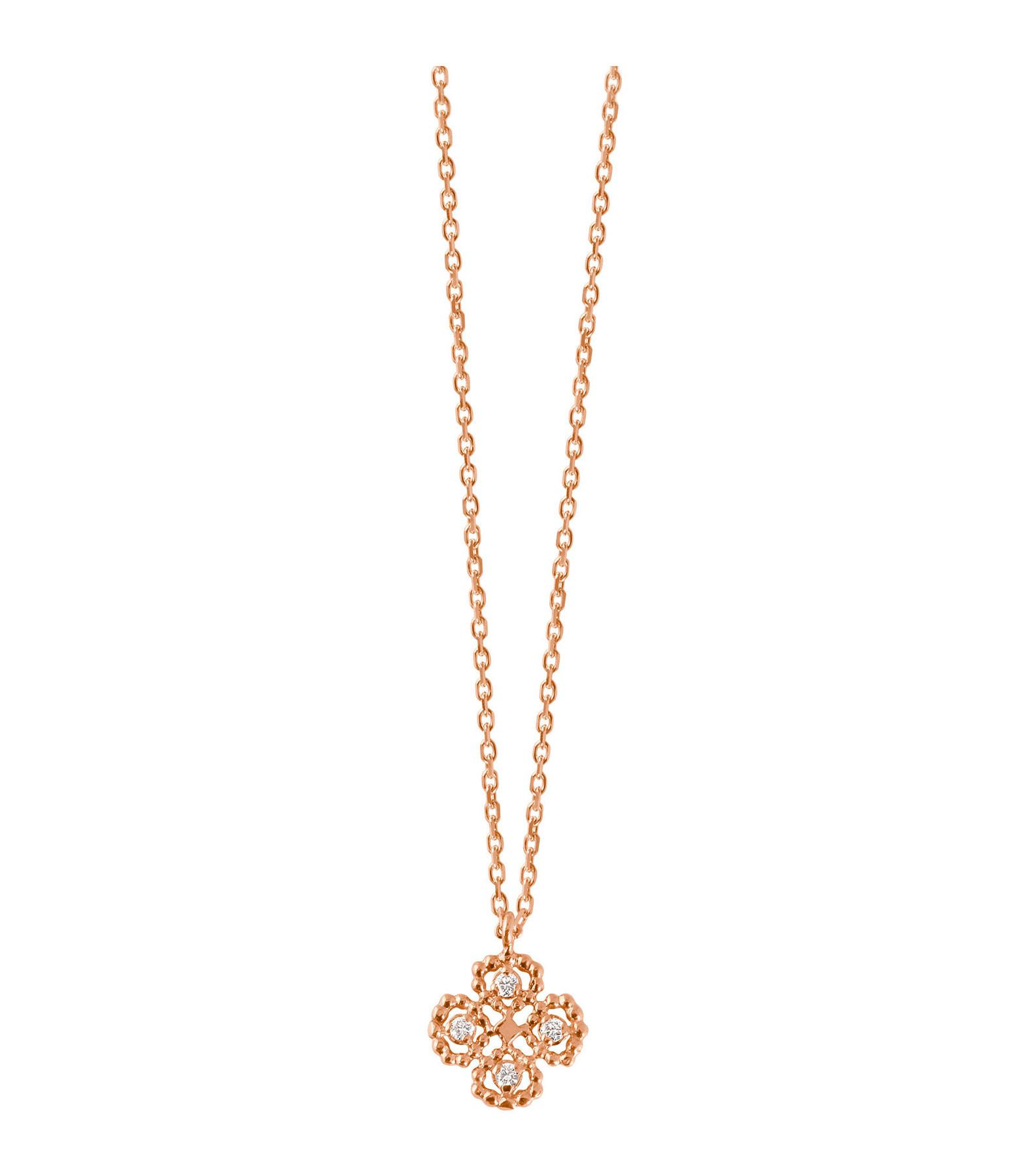 GIGI CLOZEAU - Collier Trèfle Lucky Diamants