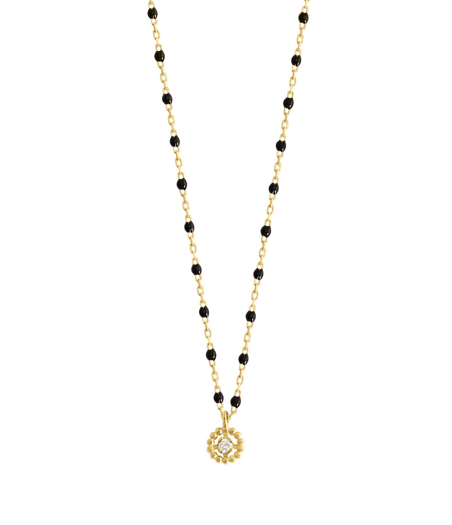 GIGI CLOZEAU - Collier Mini Perles Résine Lucky Puce Or gris