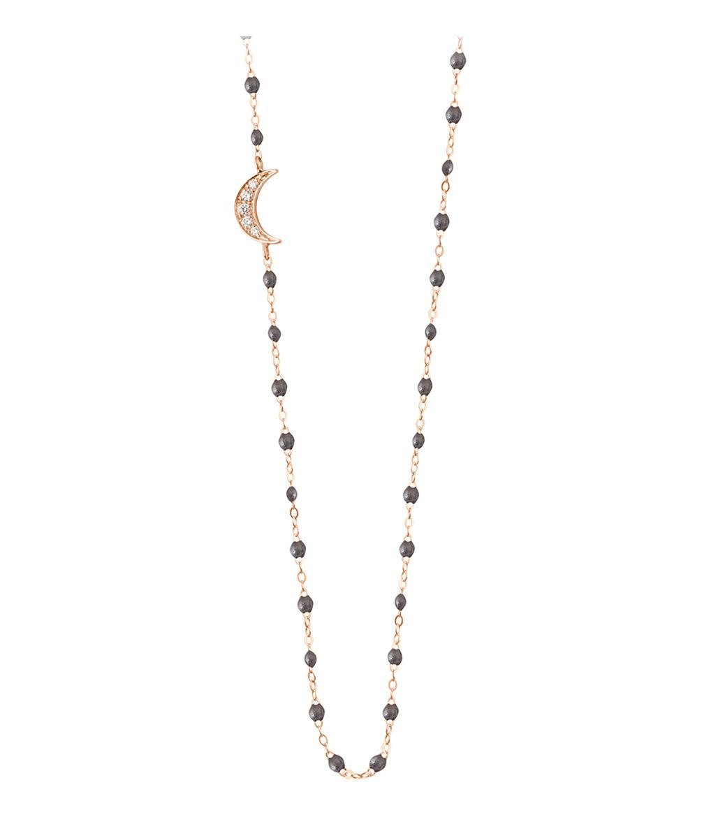 Collier Perles Résine Lune Diamants - GIGI CLOZEAU
