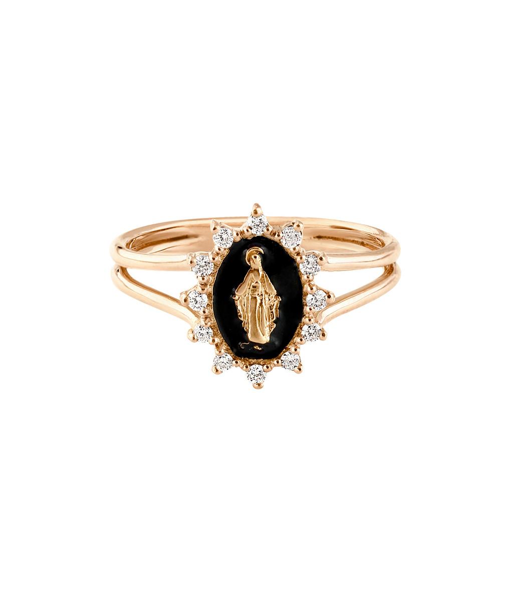 GIGI CLOZEAU - Bague Madone Suprême Or Diamants