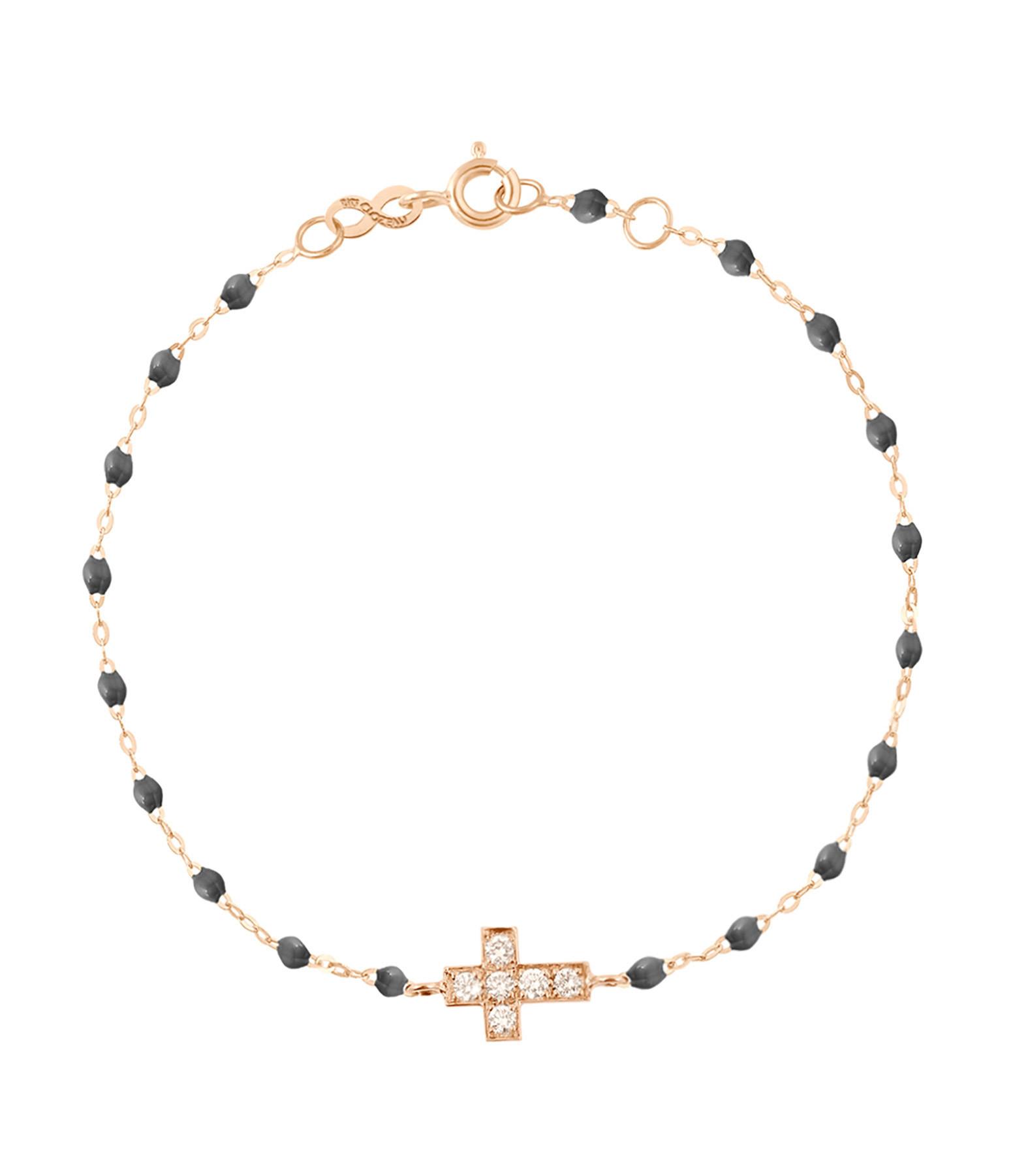 GIGI CLOZEAU - Bracelet Perles Résine Croix Diamants