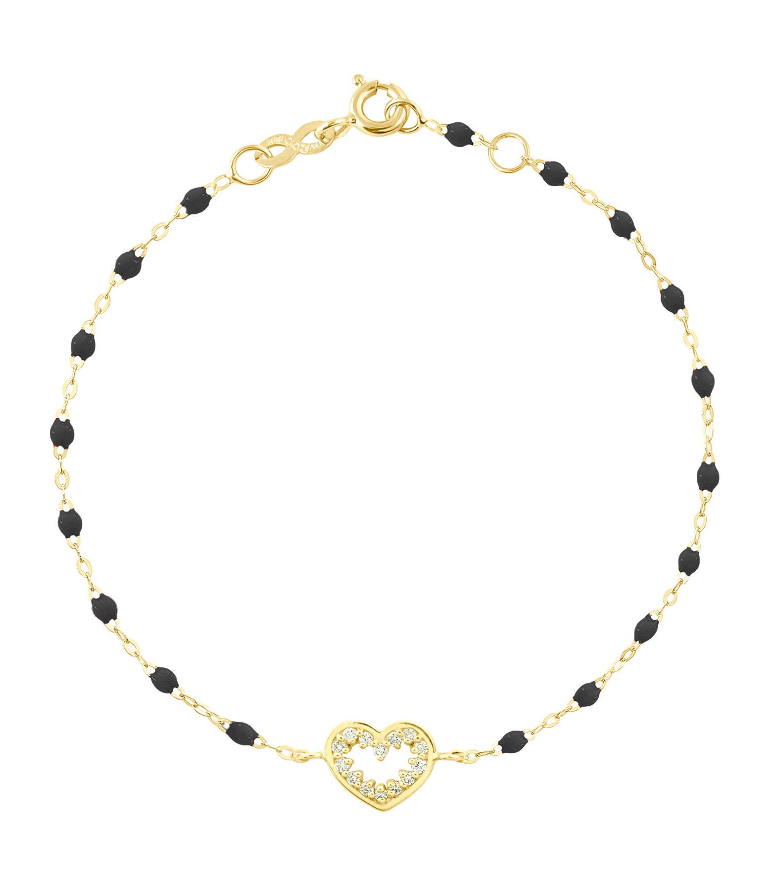 GIGI CLOZEAU - Bracelet Résine CŒur Suprême Diams OJ