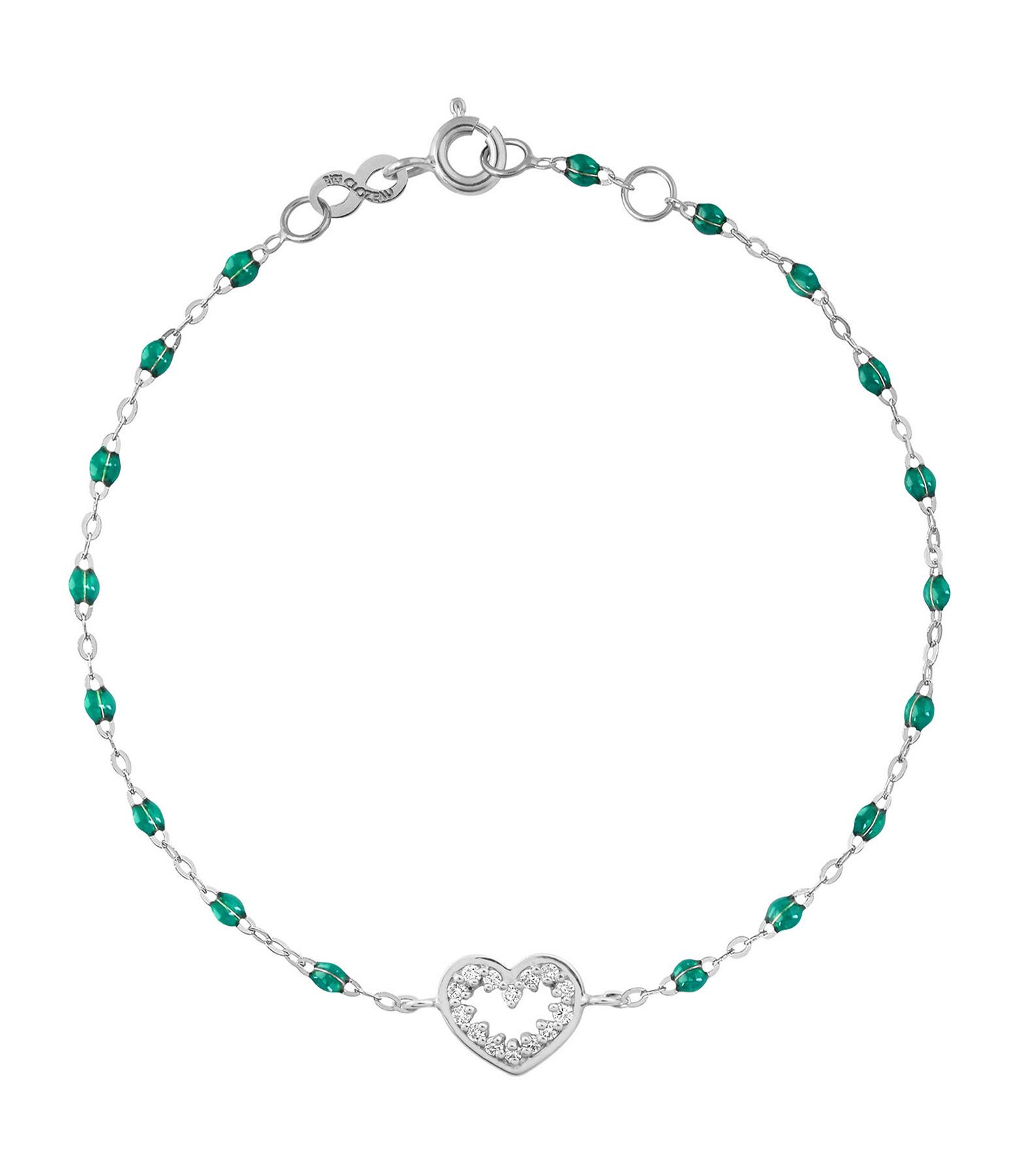 GIGI CLOZEAU - Bracelet Résine CŒur Suprême Diams OG