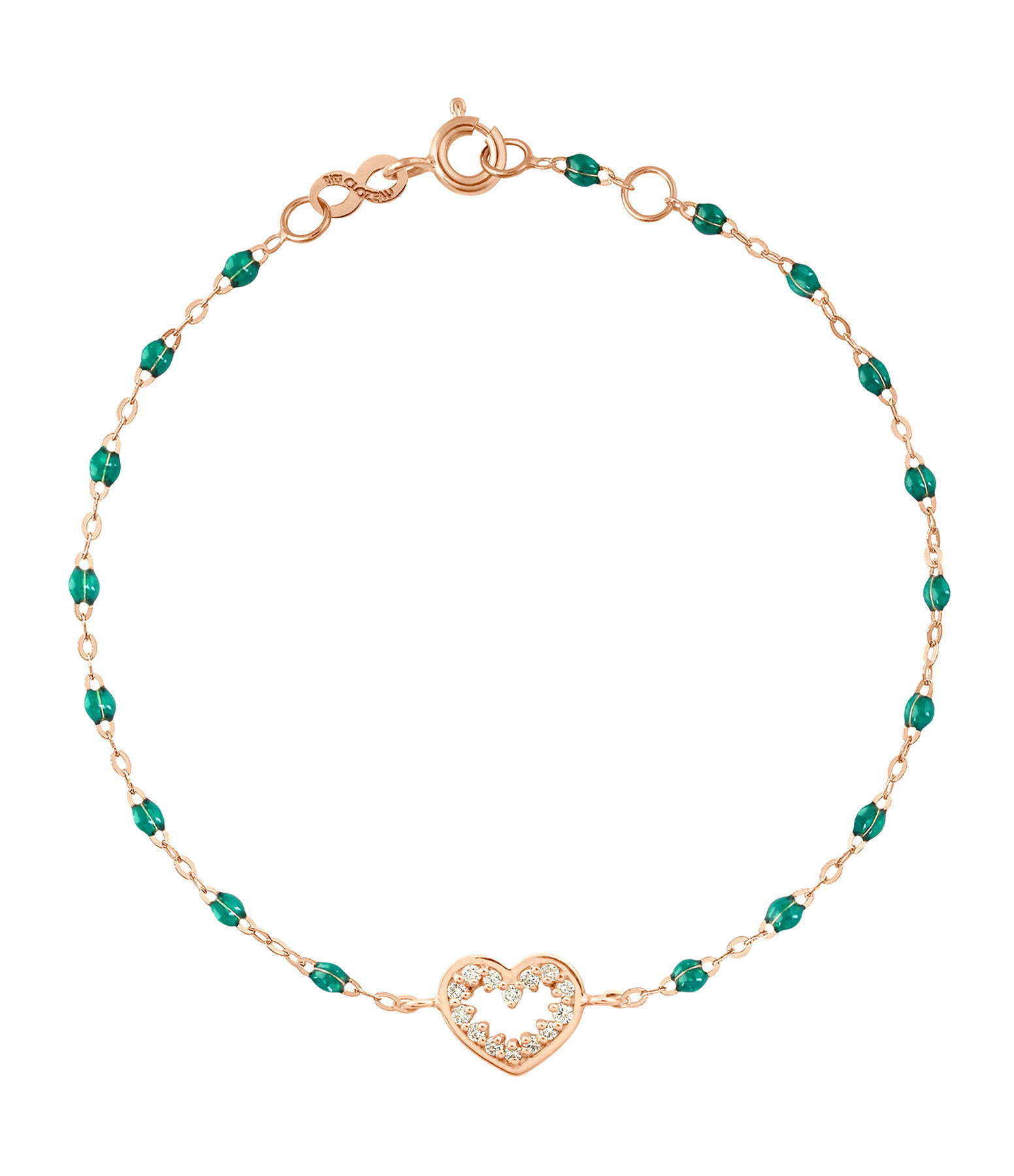 GIGI CLOZEAU - Bracelet Résine CŒur Suprême Diams OR