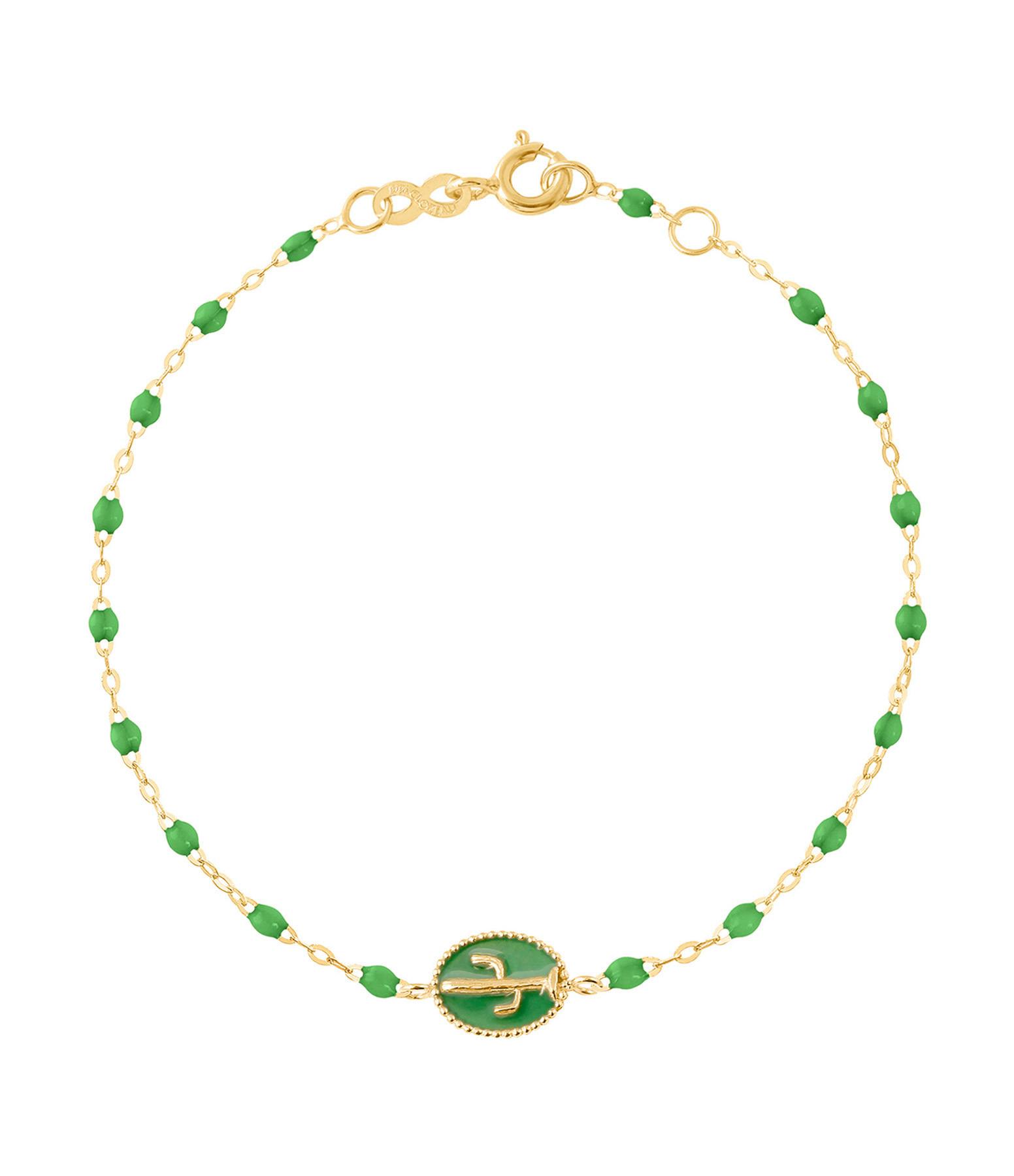 GIGI CLOZEAU - Bracelet Perles Résine Cactus OJ Vert Prairie