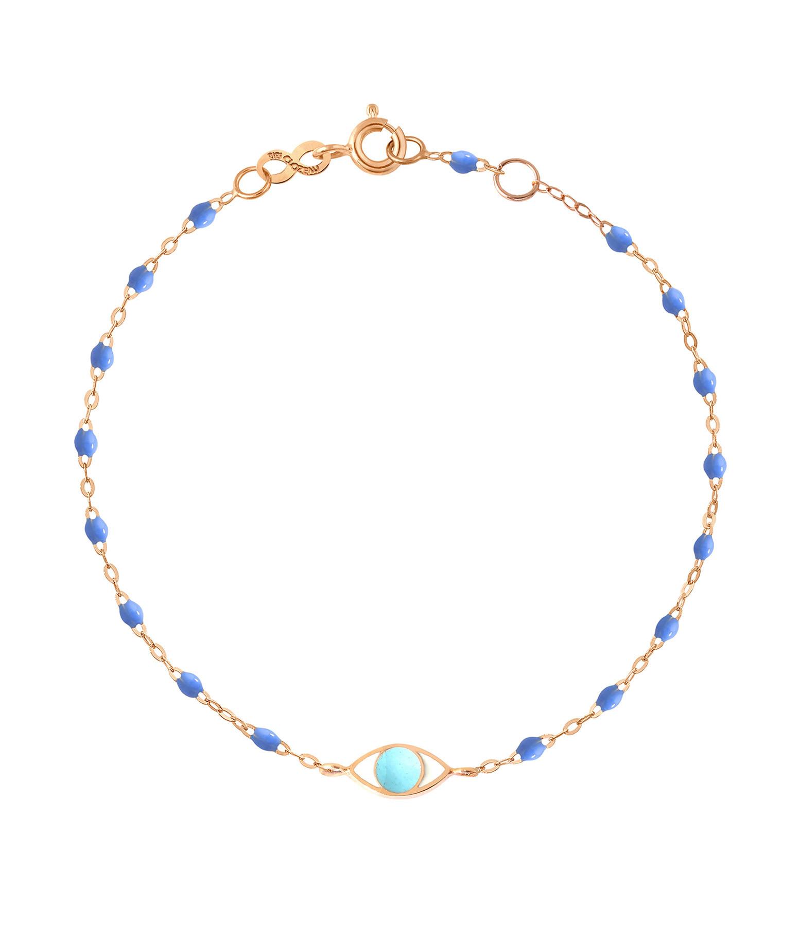 GIGI CLOZEAU - Bracelet Voyage Oeil Résine Bleu turquoise OG