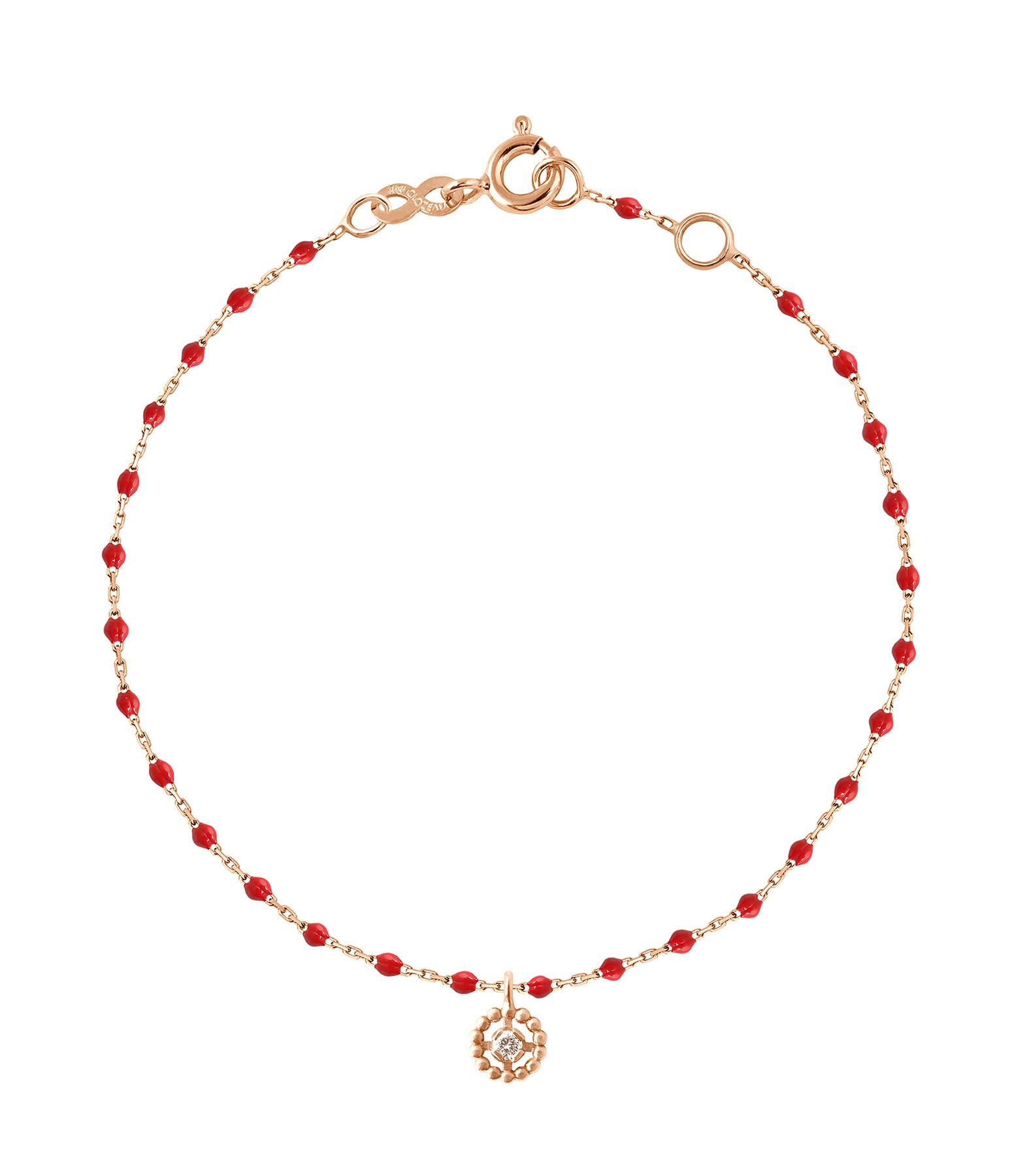 GIGI CLOZEAU - Bracelet Mini Perles Résine Lucky Puce Or gris