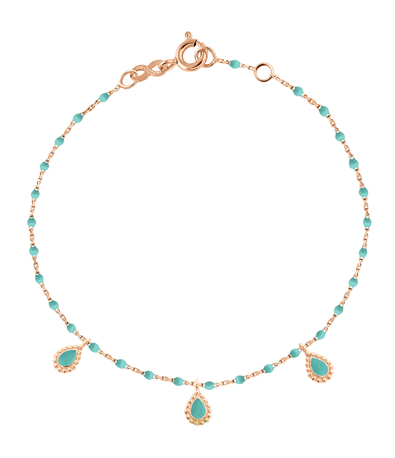 GIGI CLOZEAU - Bracelet Mini Perles Résine 3 Lucky Cachemire OR