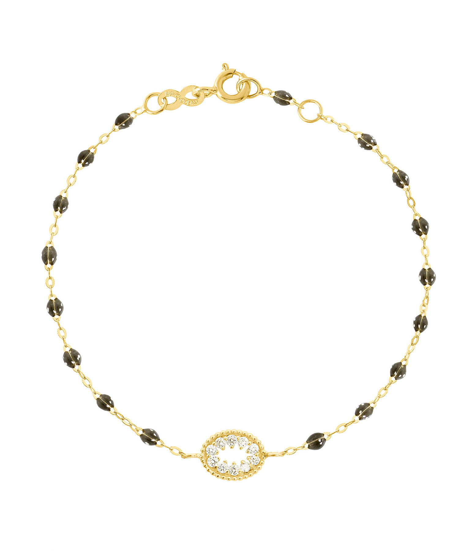 GIGI CLOZEAU - Bracelet Résine L'Œil du Pirate Diams Or jaune
