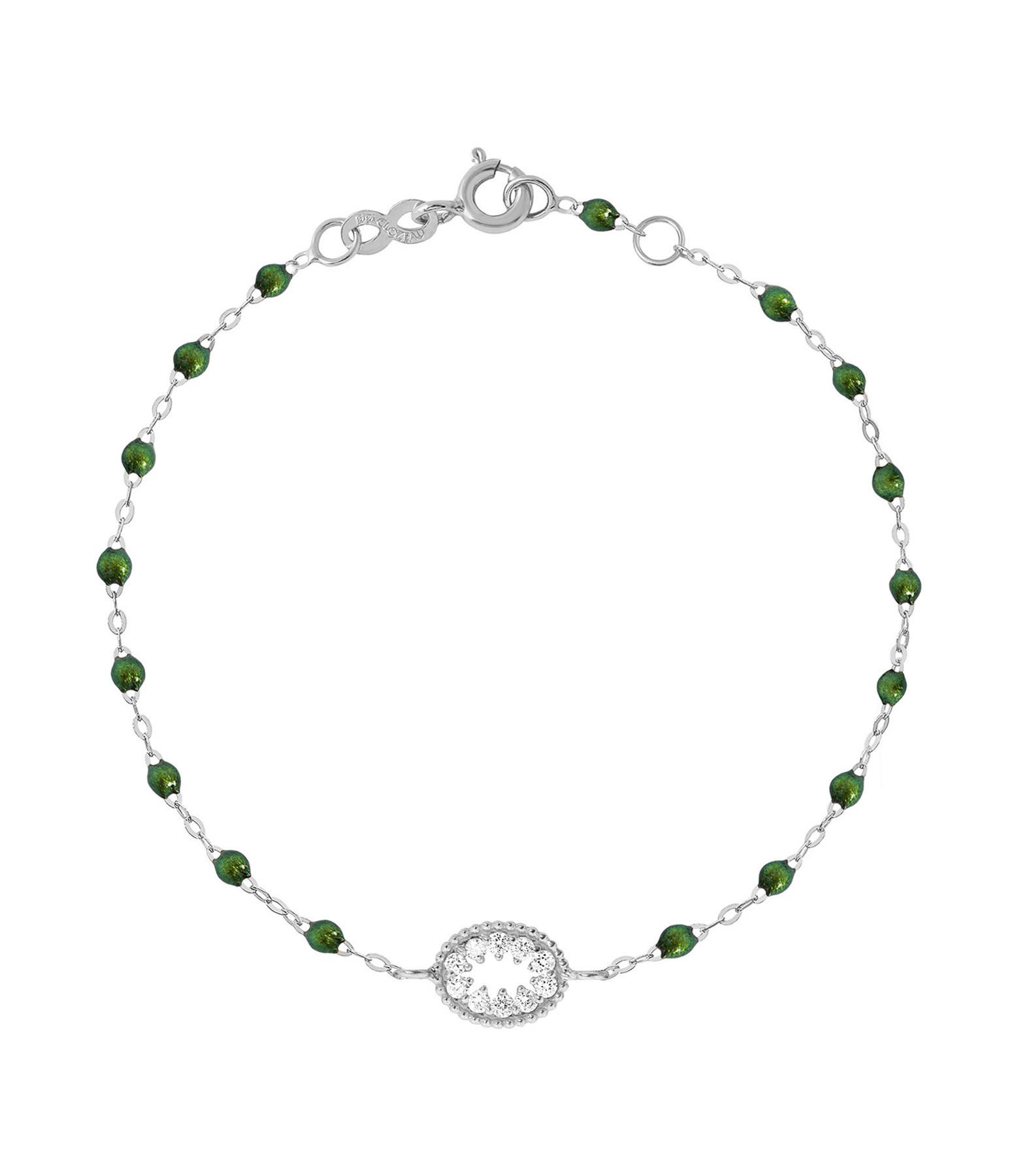 GIGI CLOZEAU - Bracelet Résine L'Œil du Pirate Diams Or gris