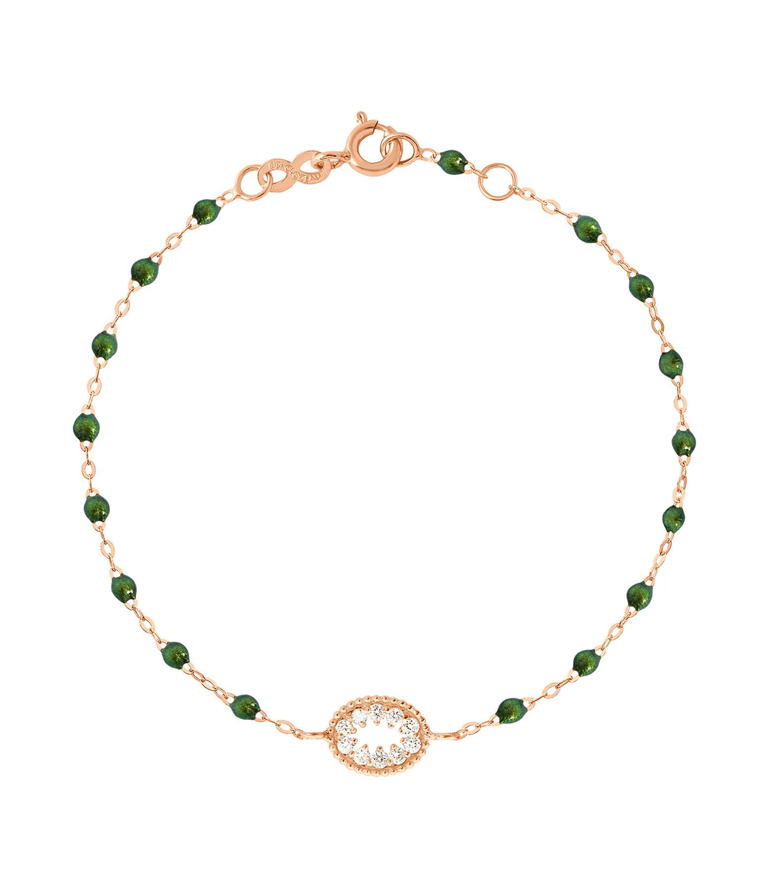 GIGI CLOZEAU - Bracelet Résine L'Œil du Pirate Diams Or rose
