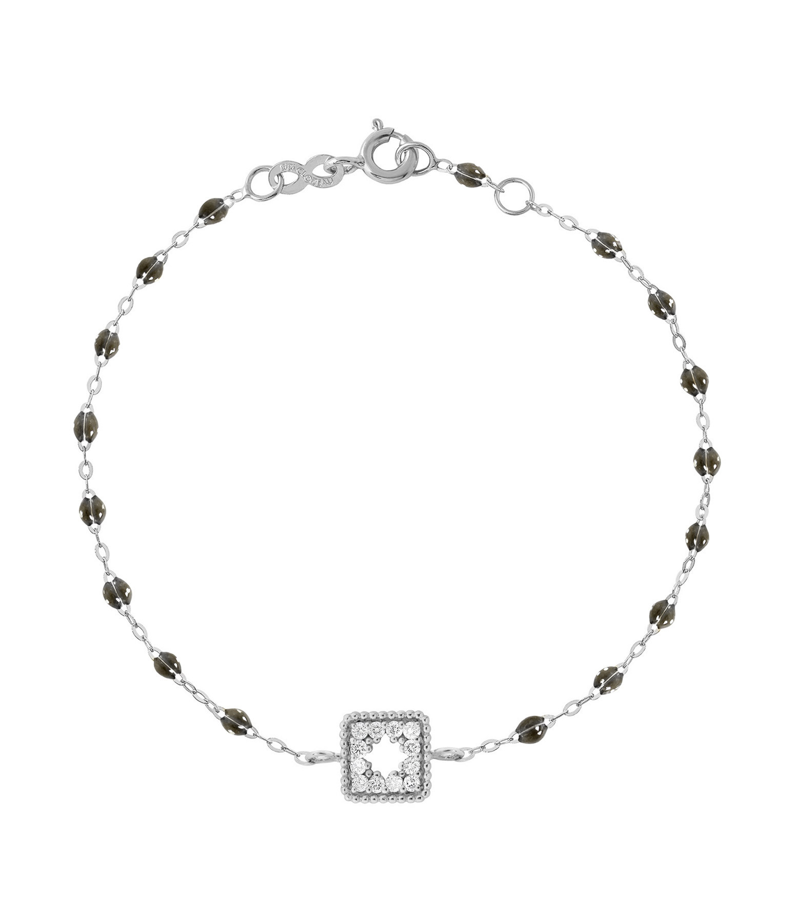 GIGI CLOZEAU - Bracelet résine Pirate Trésor Diams Or gris
