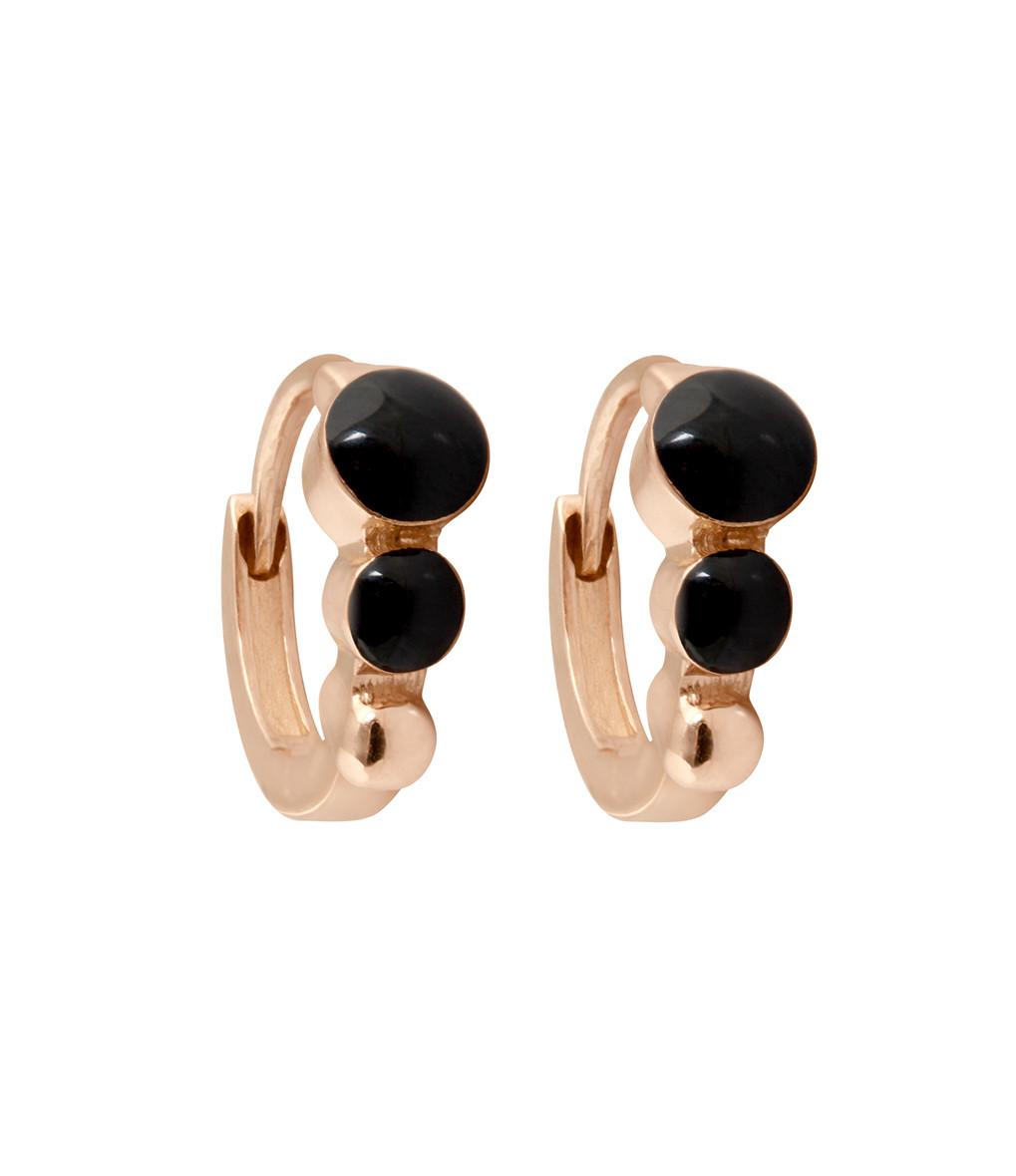 Boucles d'oreilles Mini Créoles Résine - GIGI CLOZEAU