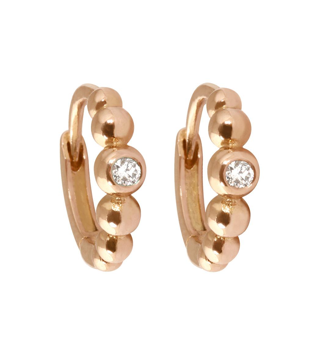 meilleur service 04e6d c20af Mini Créoles Boules Diamants