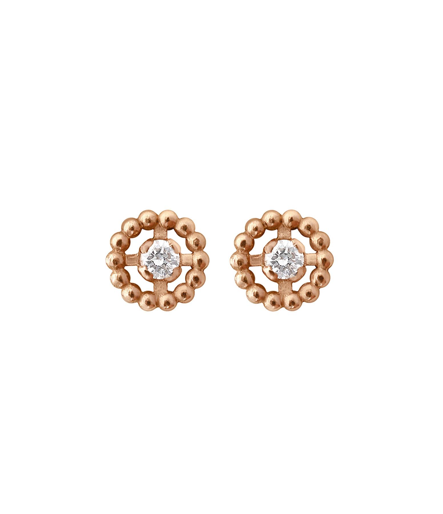GIGI CLOZEAU - Boucles d'oreilles Lucky Puces Diamants