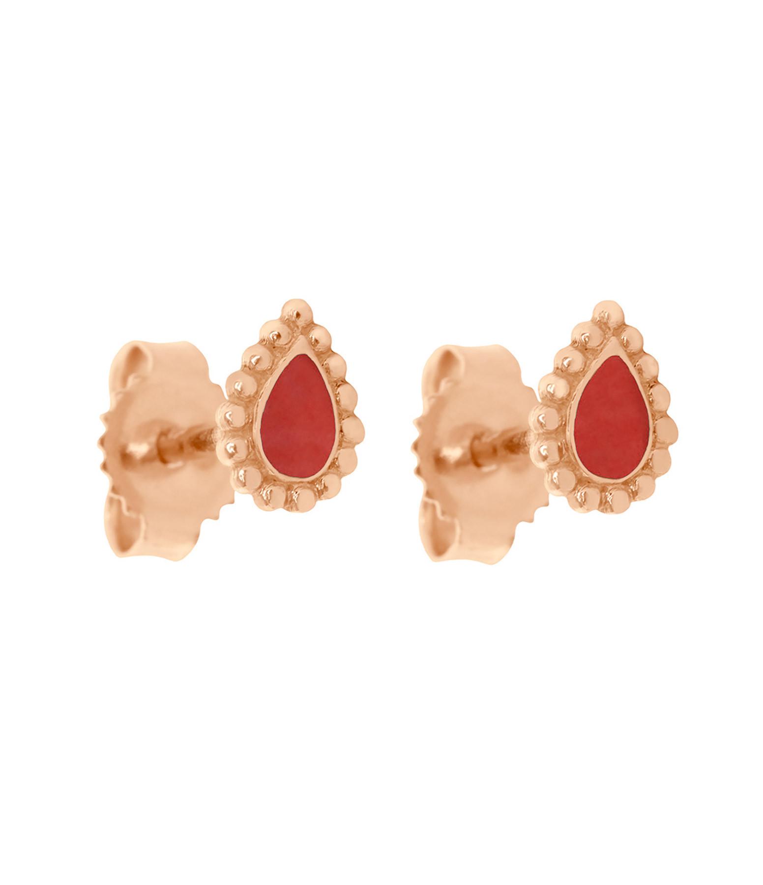 GIGI CLOZEAU - Boucles d'oreilles Lucky Cachemire Email OR